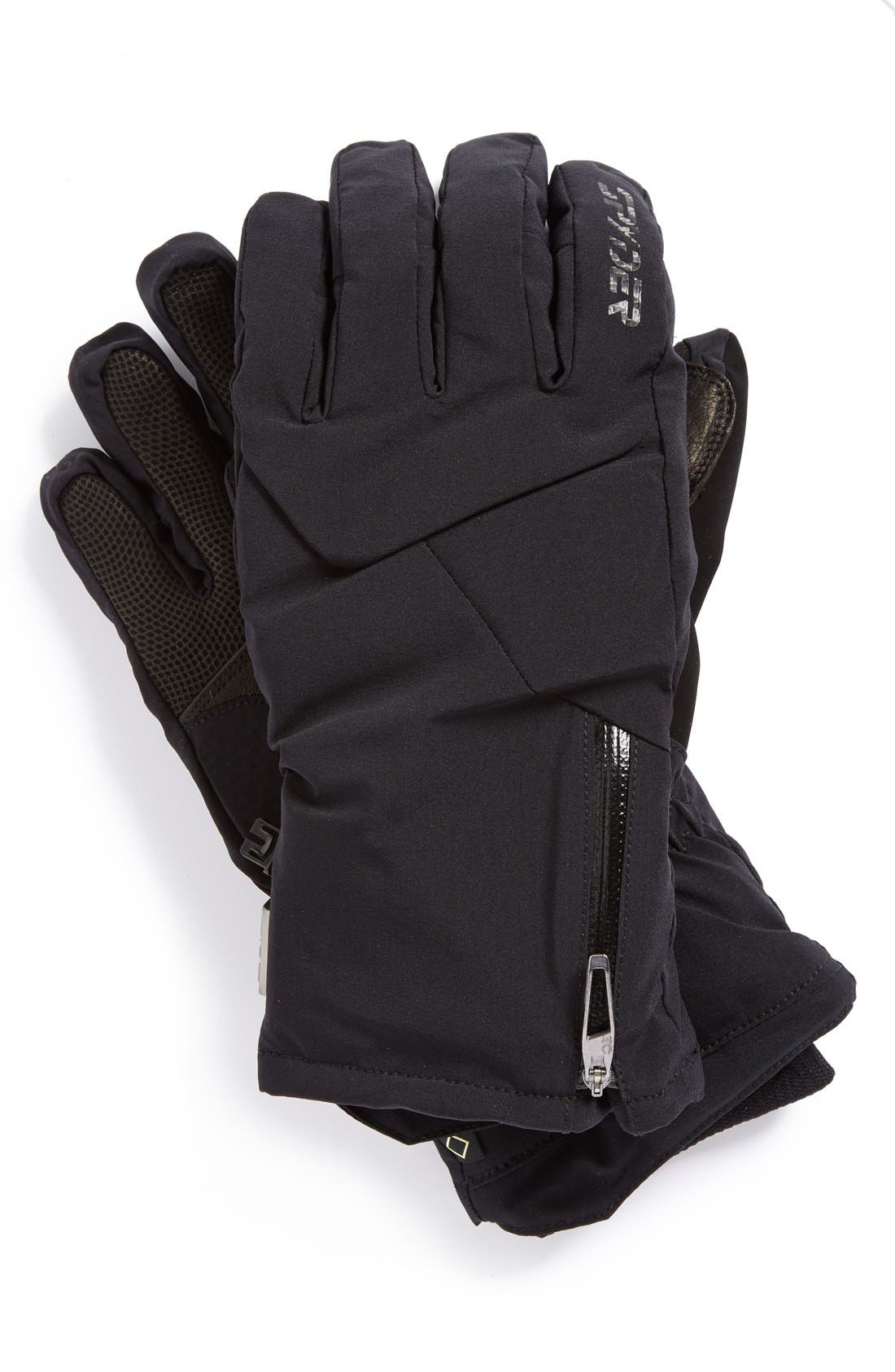 'Sestriere' Gore-Tex<sup>®</sup> Waterproof PrimaLoft<sup>®</sup> Insulated Ski Gloves,                             Main thumbnail 1, color,                             001