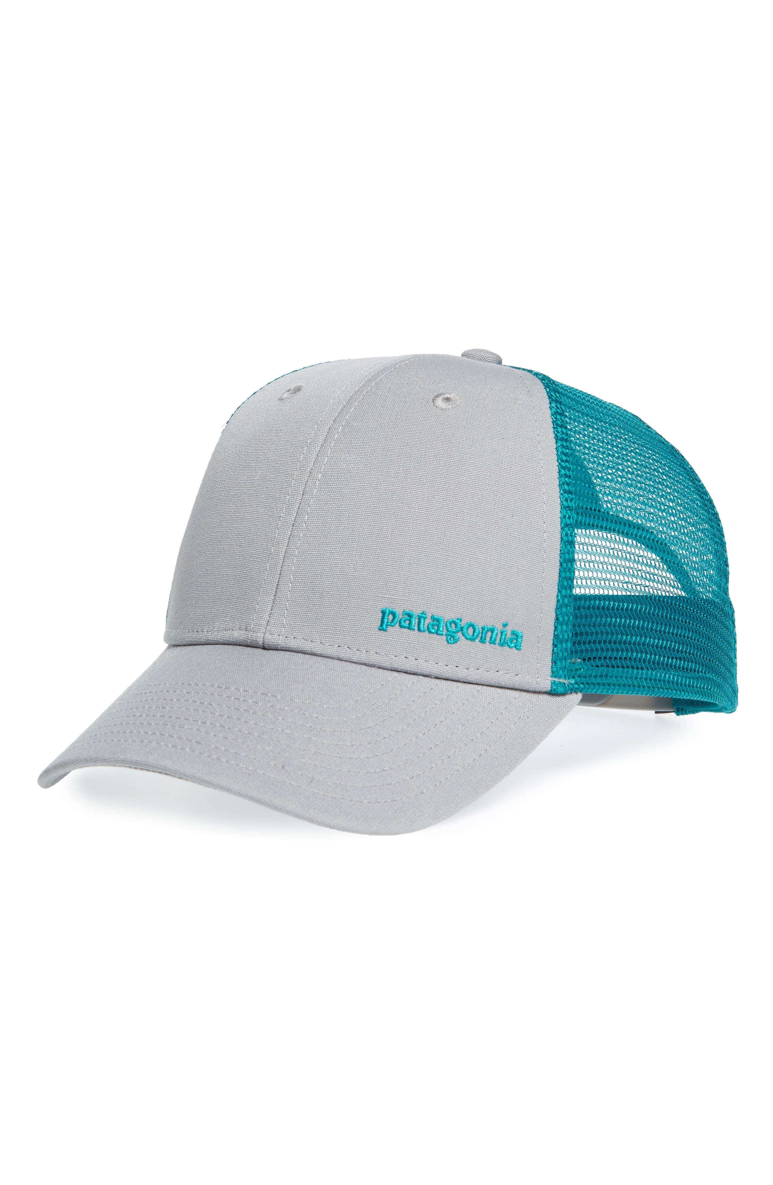Text Logo Trucker Hat,                             Main thumbnail 1, color,                             020