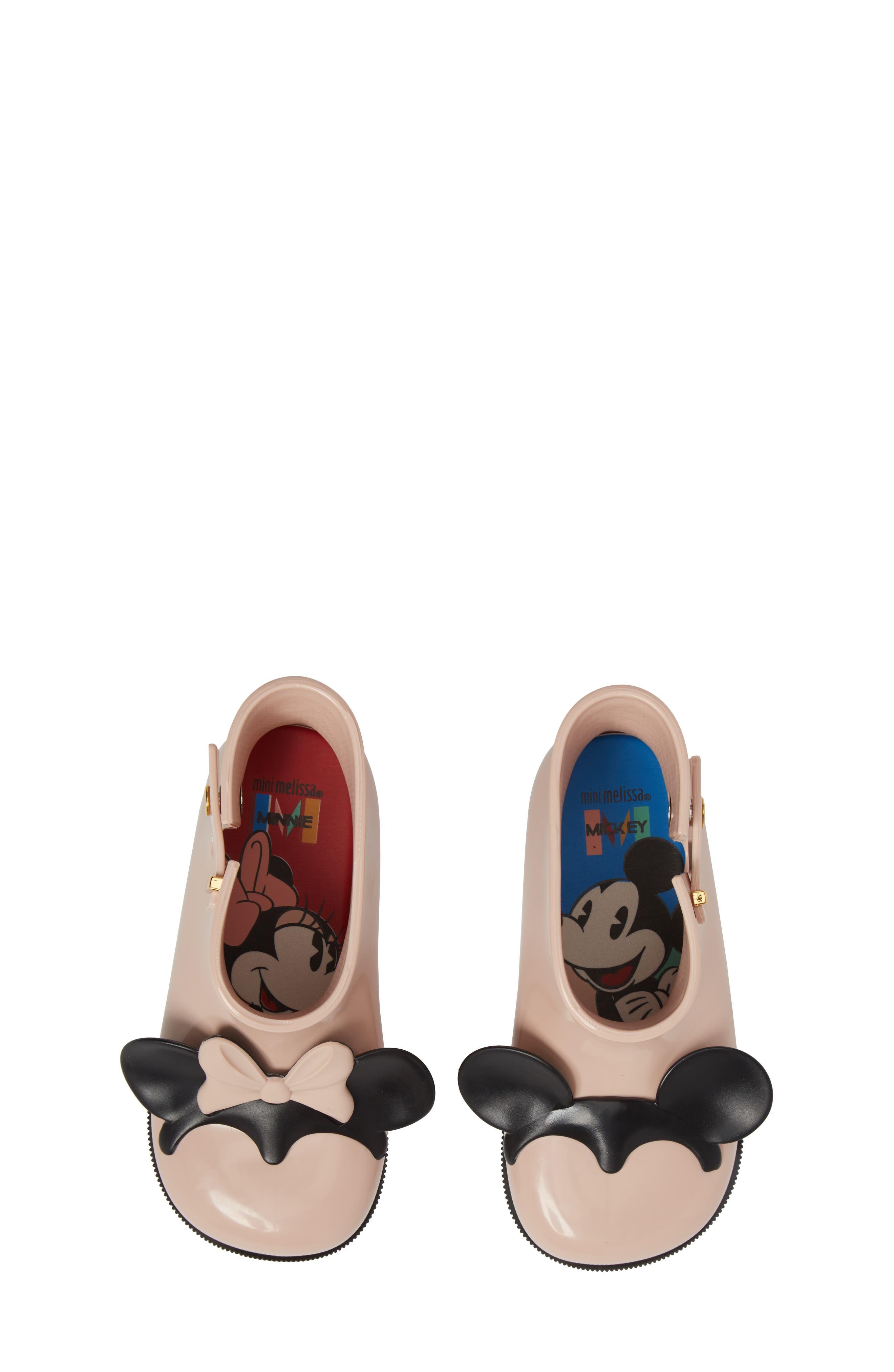 Mini Melissa Sugar Rain Disney Twins Waterproof Bootie,                             Alternate thumbnail 15, color,