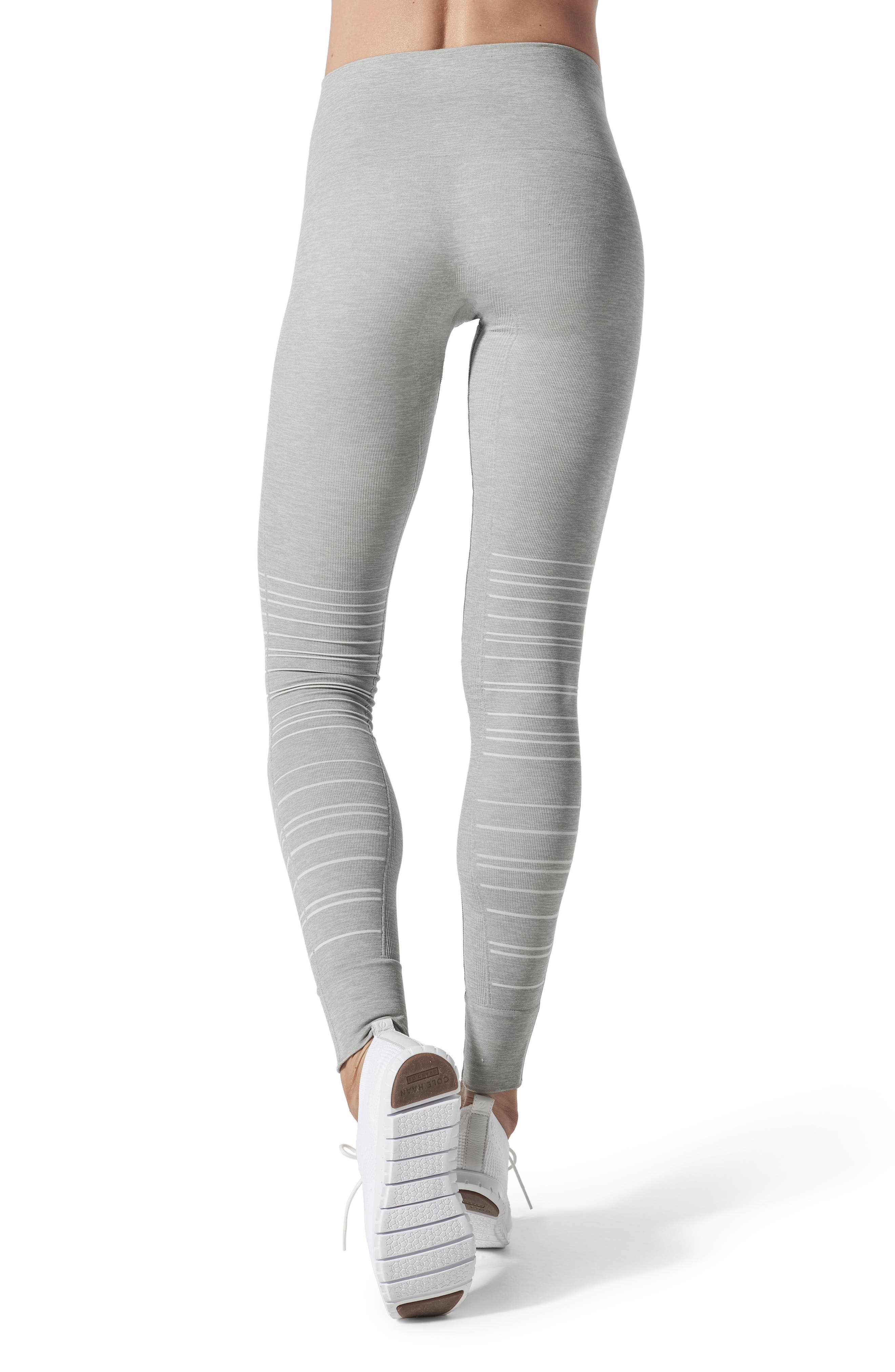 SportSupport<sup>®</sup> Hipster Cuffed Support Maternity/Postpartum Leggings,                             Alternate thumbnail 2, color,                             DOVE GREY