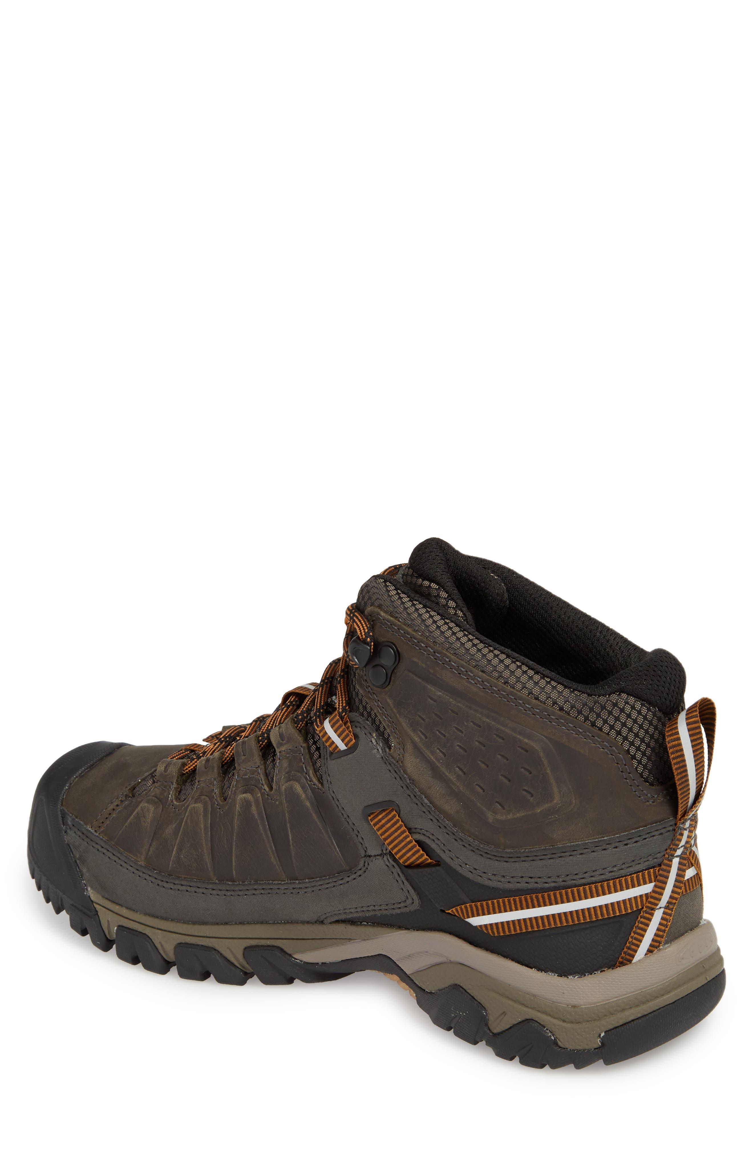 Targhee III Mid Waterproof Hiking Boot,                             Alternate thumbnail 2, color,                             BLACK OLIVE/GOLDEN BROWN