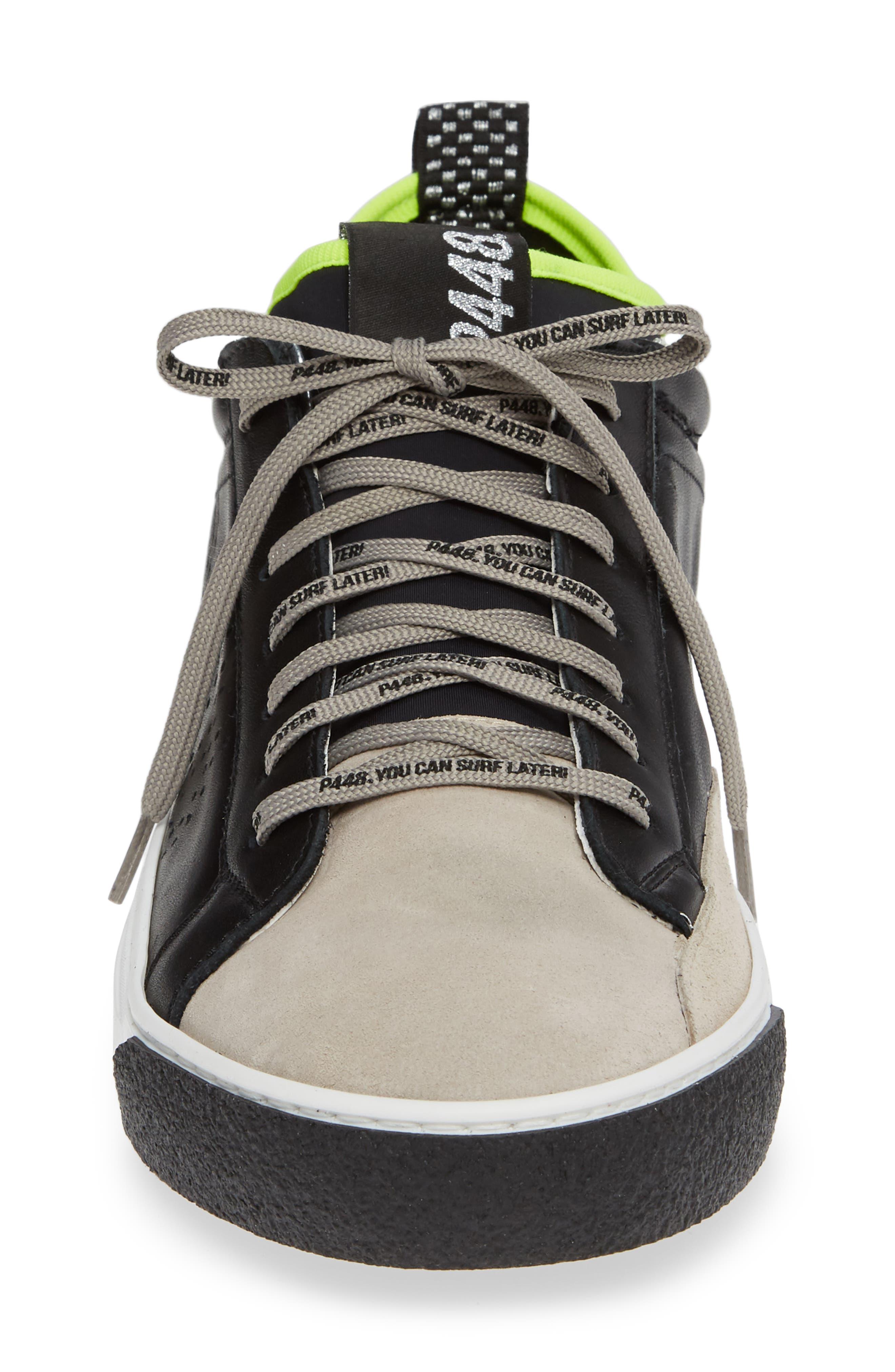 A8miamijsocks Sneaker,                             Alternate thumbnail 4, color,                             BLACK