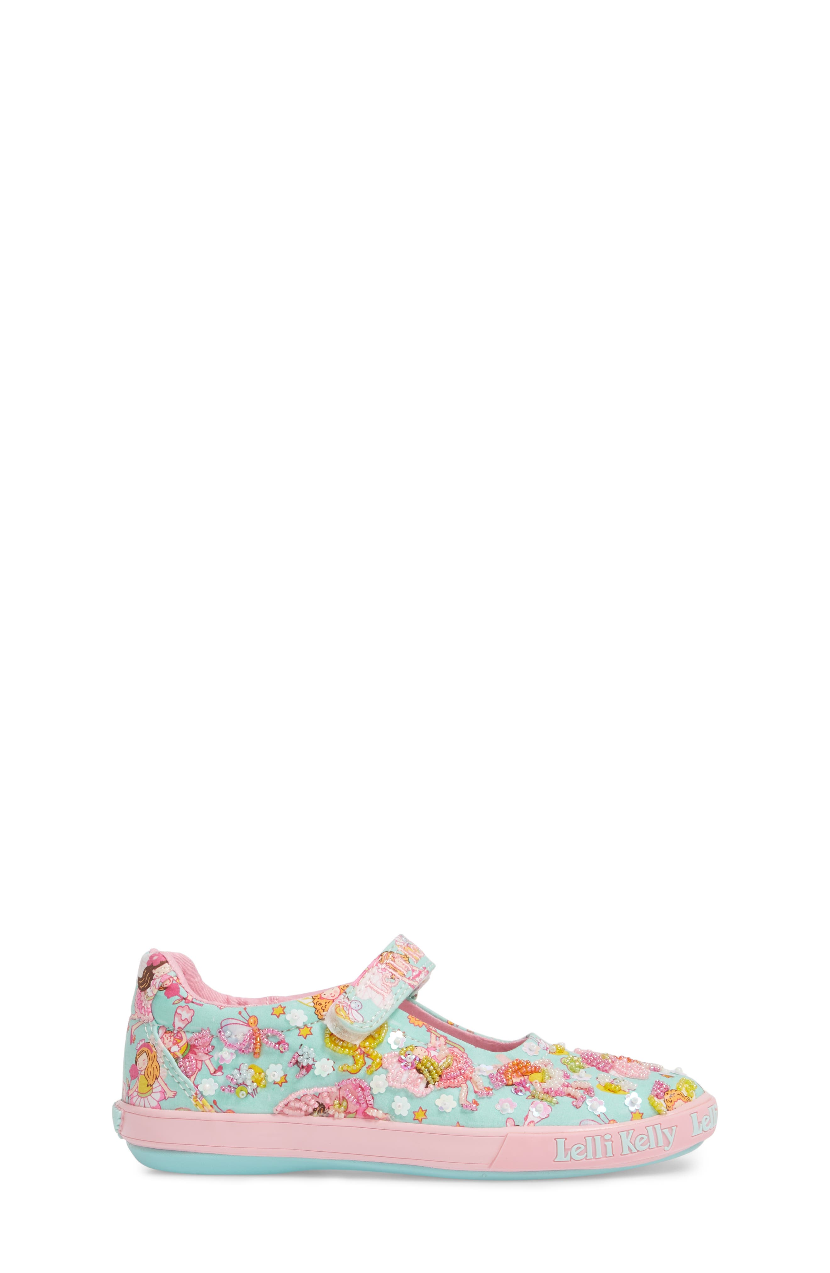 Beaded Mary Jane Sneaker,                             Alternate thumbnail 3, color,                             TURQUOISE
