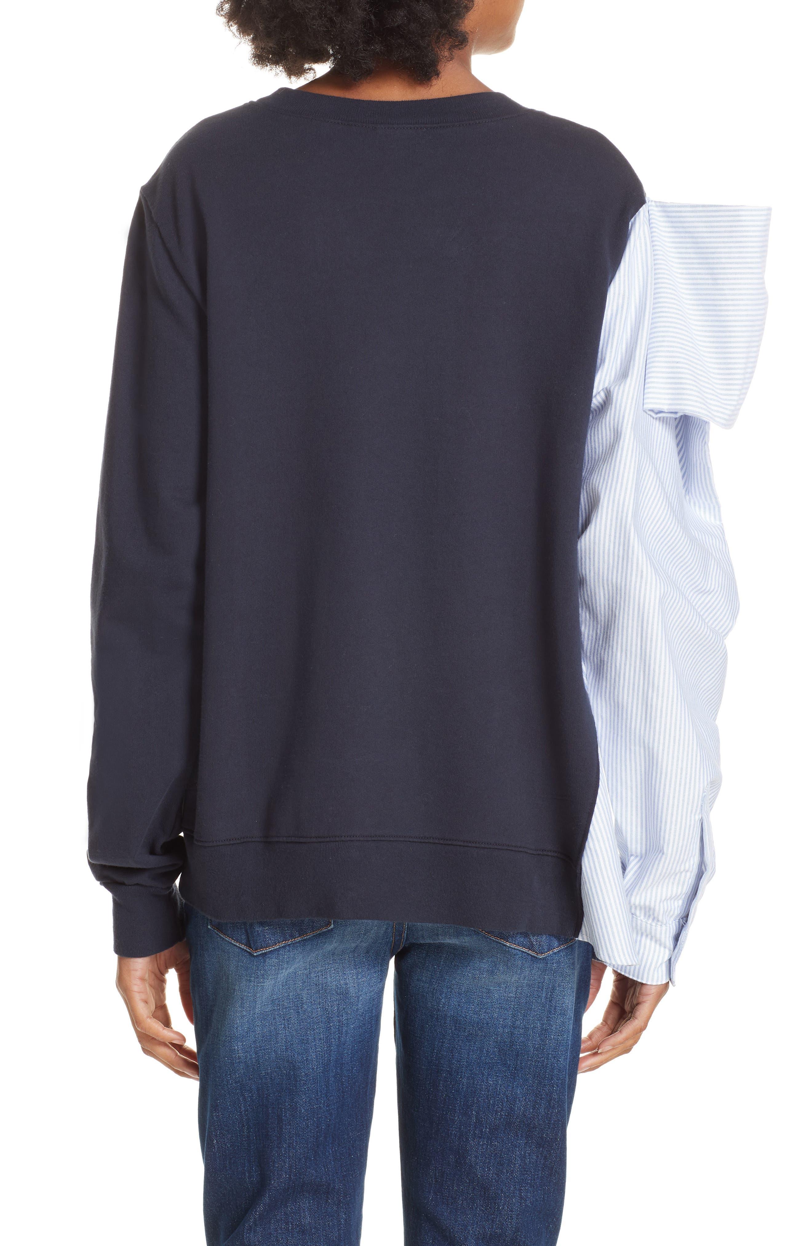 Bow Colorblock Sweatshirt,                             Alternate thumbnail 2, color,                             NAVY