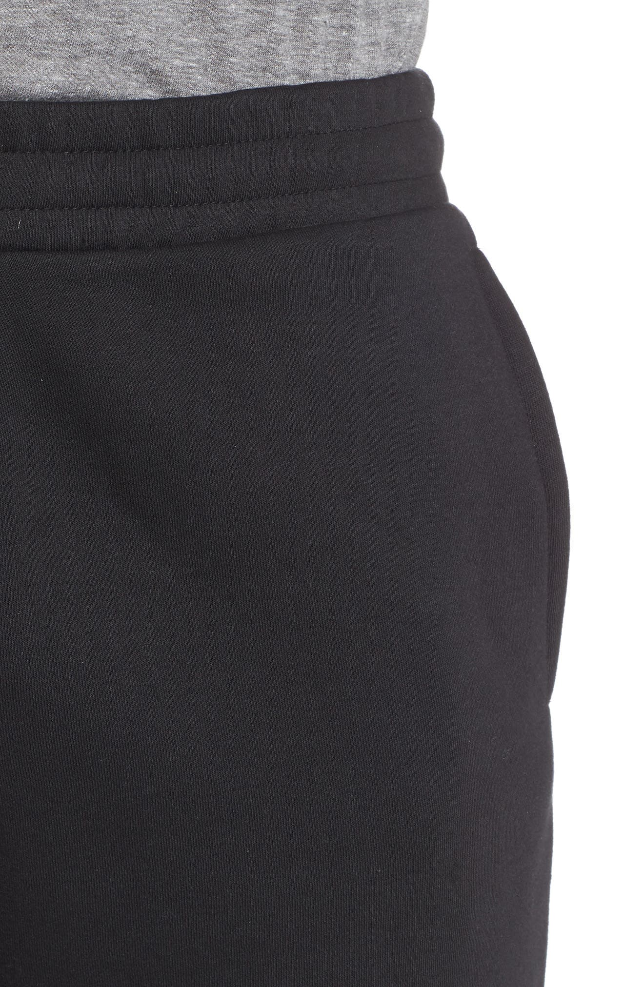 REEBOK,                             Vector Logo Sweatpants,                             Alternate thumbnail 4, color,                             BLACK