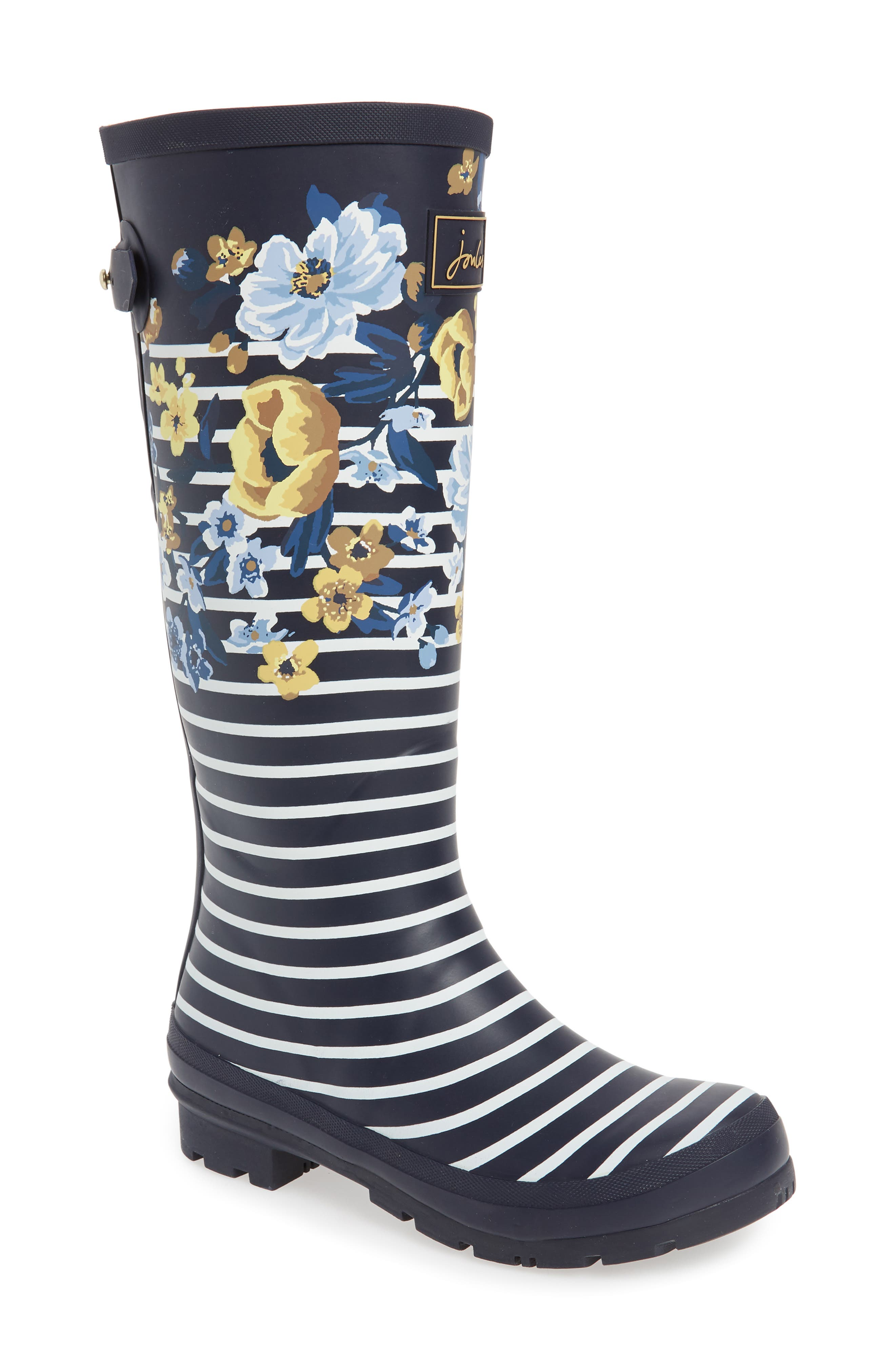 'Welly'PrintRain Boot,                         Main,                         color, NAVY BOTANICAL
