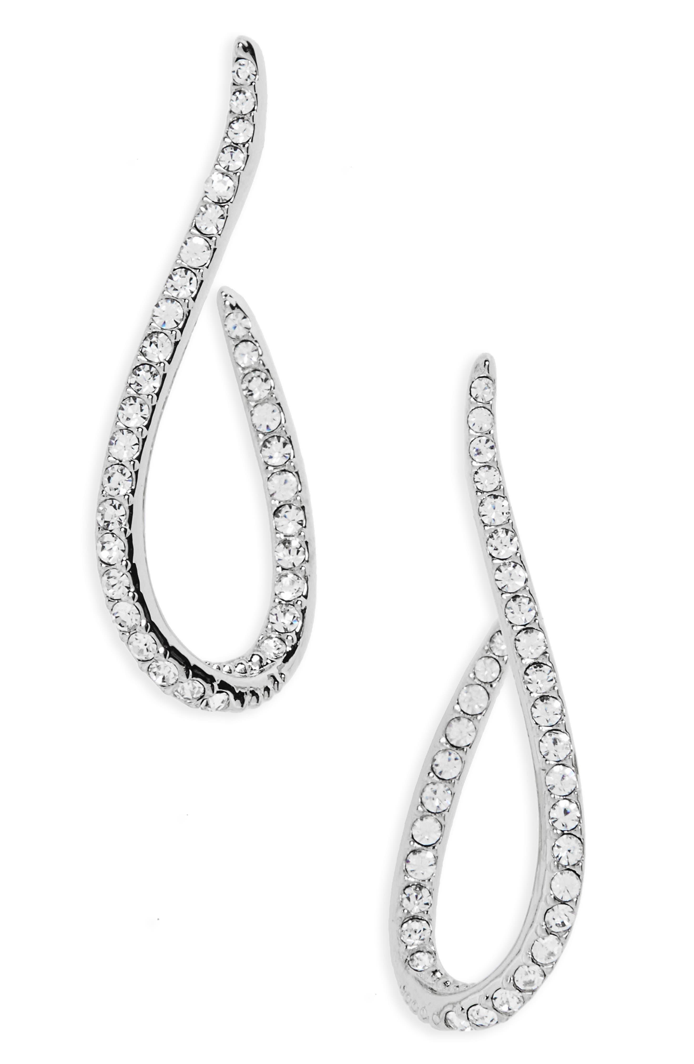 Citron J Hoop Crystal Drop Earrings,                             Main thumbnail 1, color,                             040