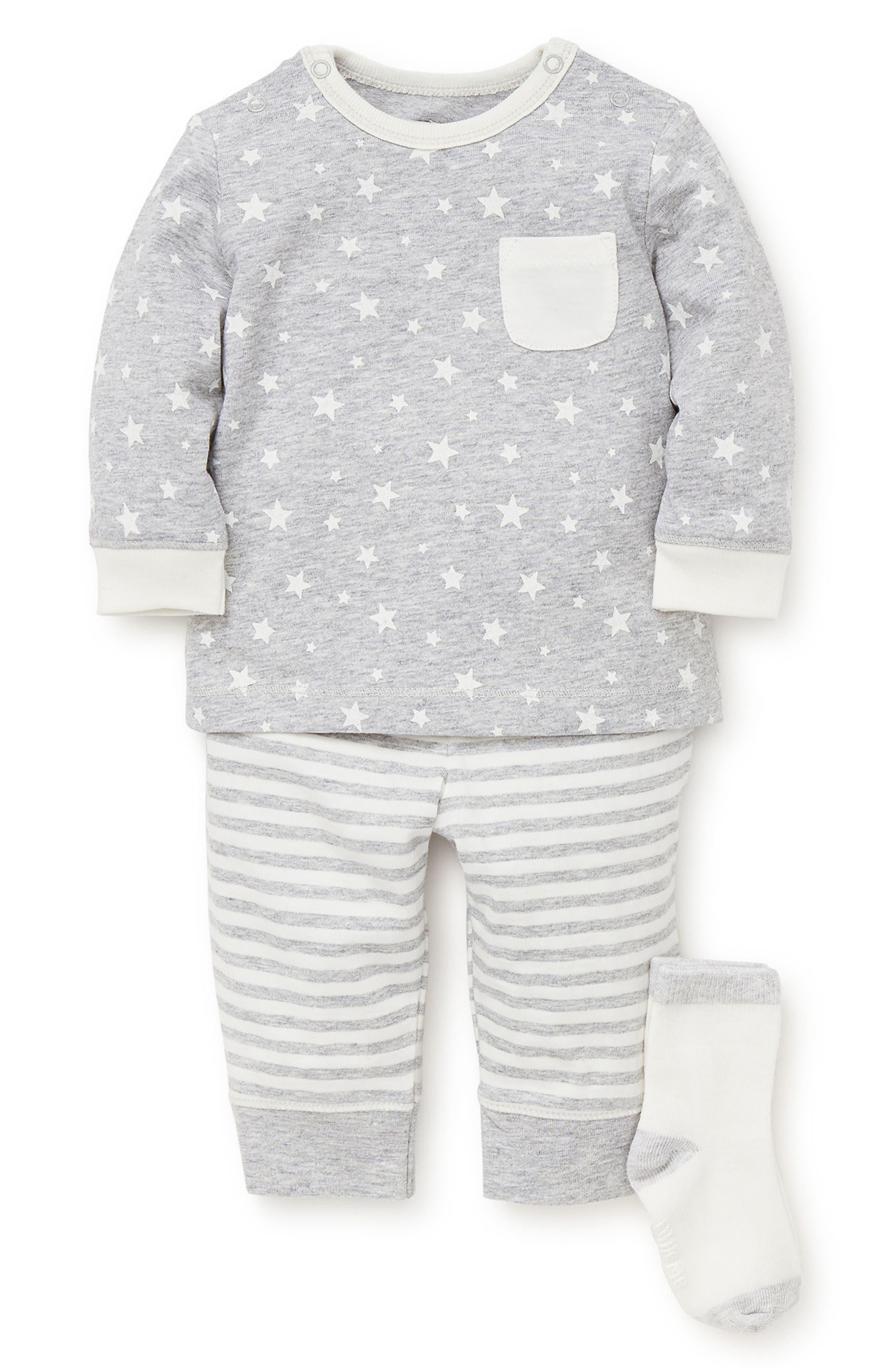 Heather Star T-Shirt, Jogger Pants & Socks Set,                             Main thumbnail 1, color,                             061