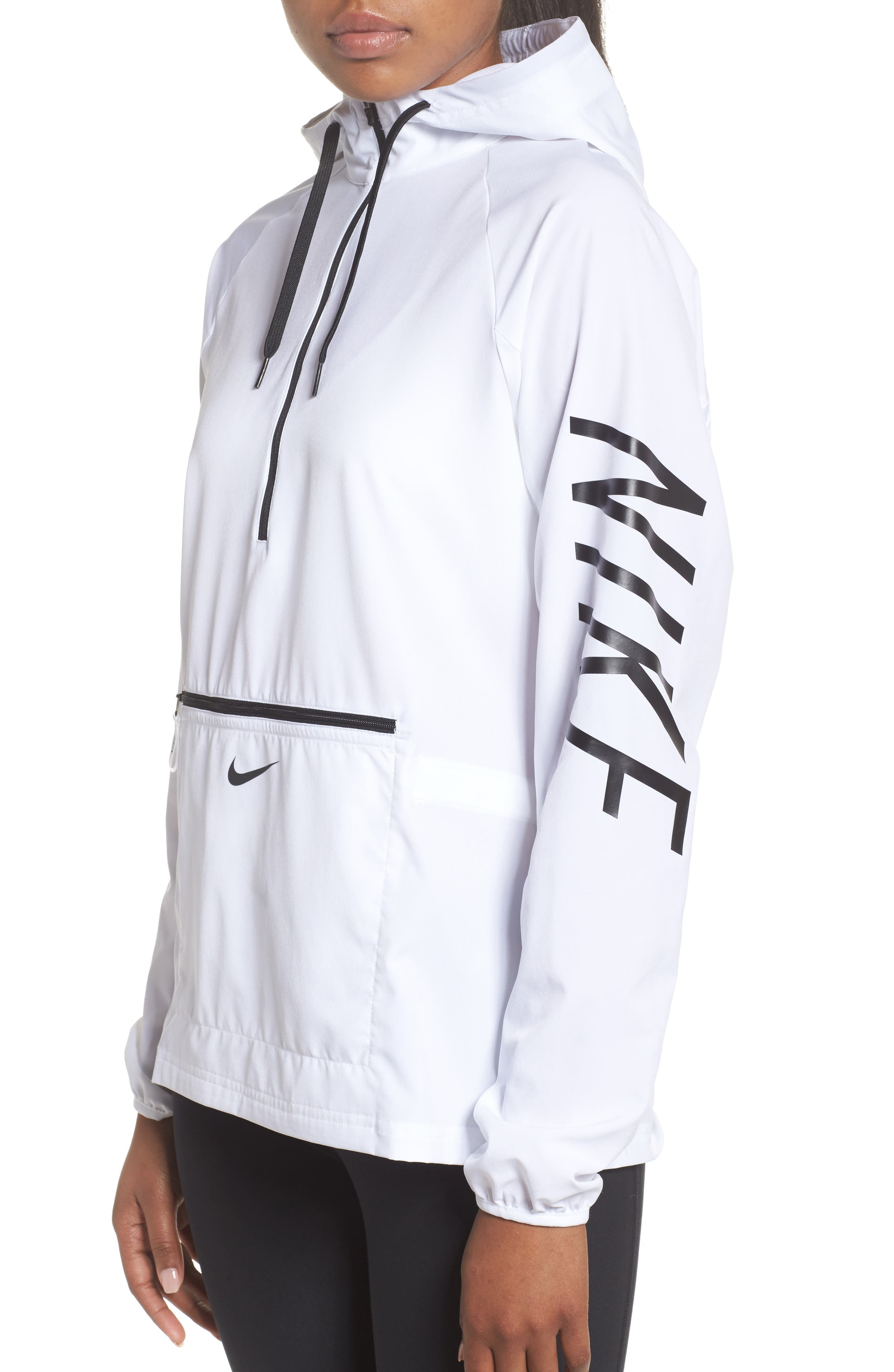 Flex Packable Hooded Training Jacket,                             Alternate thumbnail 6, color,                             100