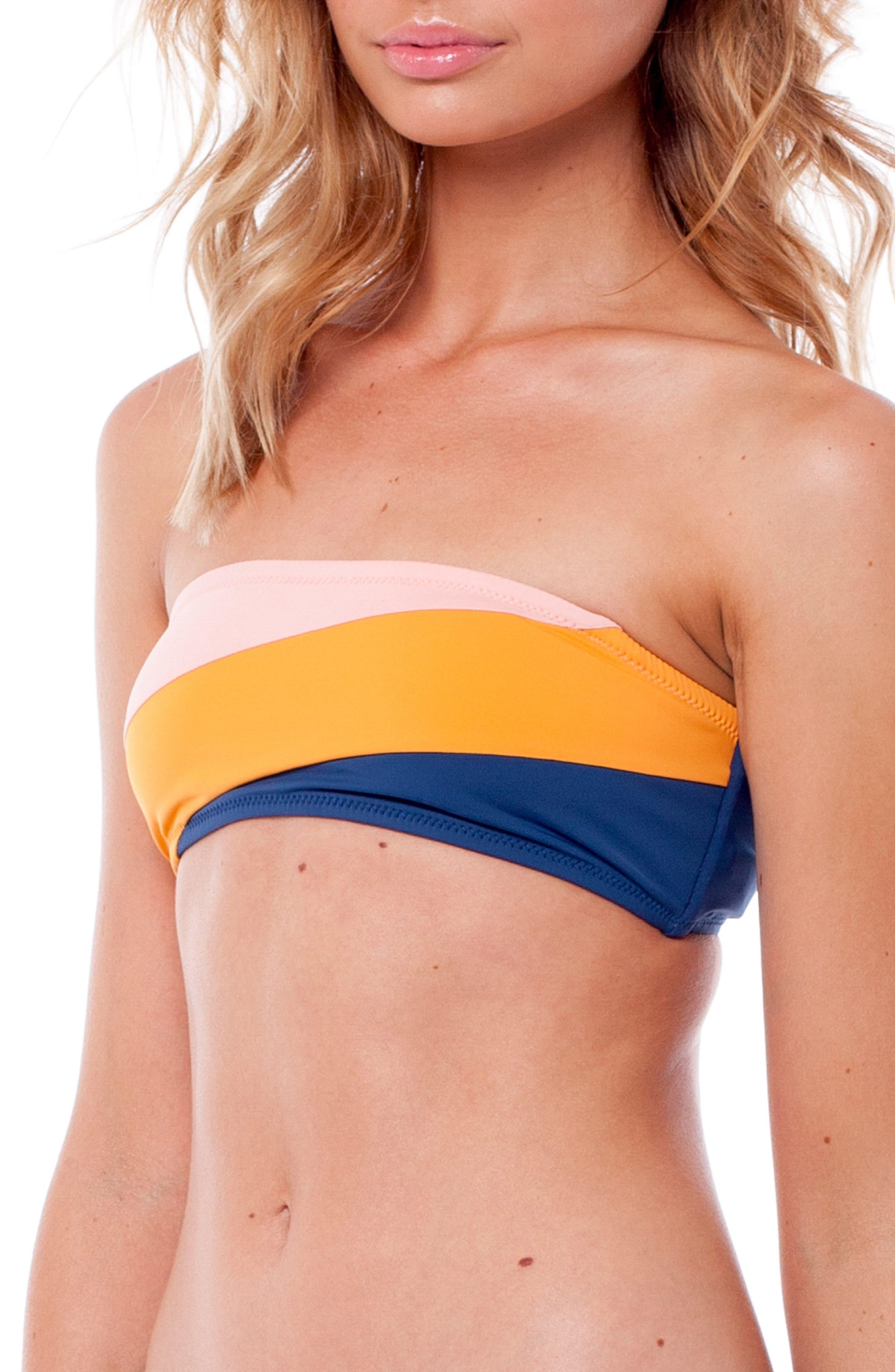 North Shore Bandeau Bikini Top,                             Alternate thumbnail 4, color,                             SEA