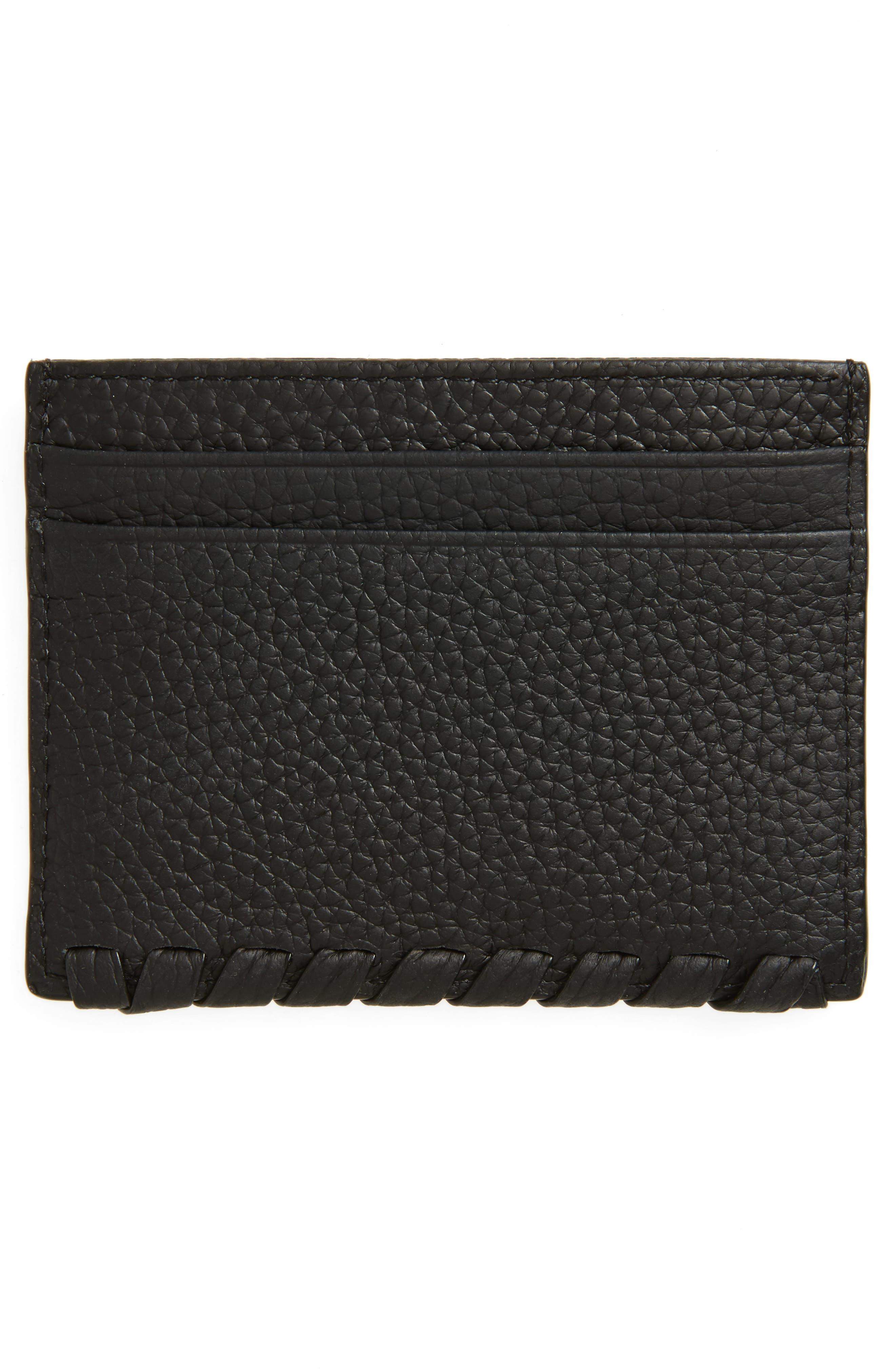 Kita Pebbled Leather Card Case,                             Alternate thumbnail 2, color,                             001