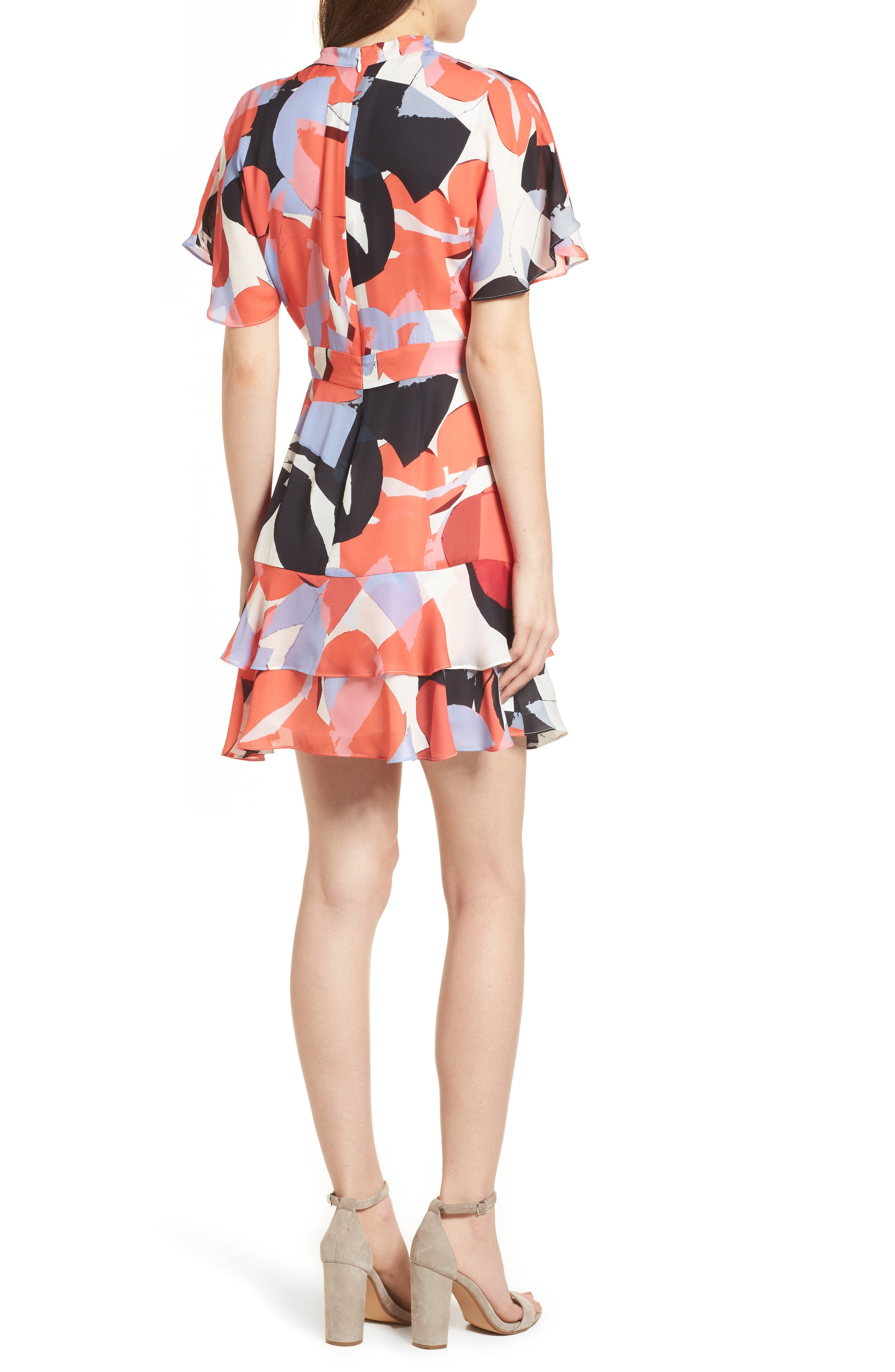 Natalie Silk Dress,                             Alternate thumbnail 2, color,