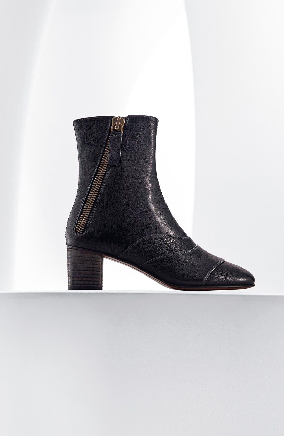 'Lexie' Block Heel Boot,                             Alternate thumbnail 5, color,                             001