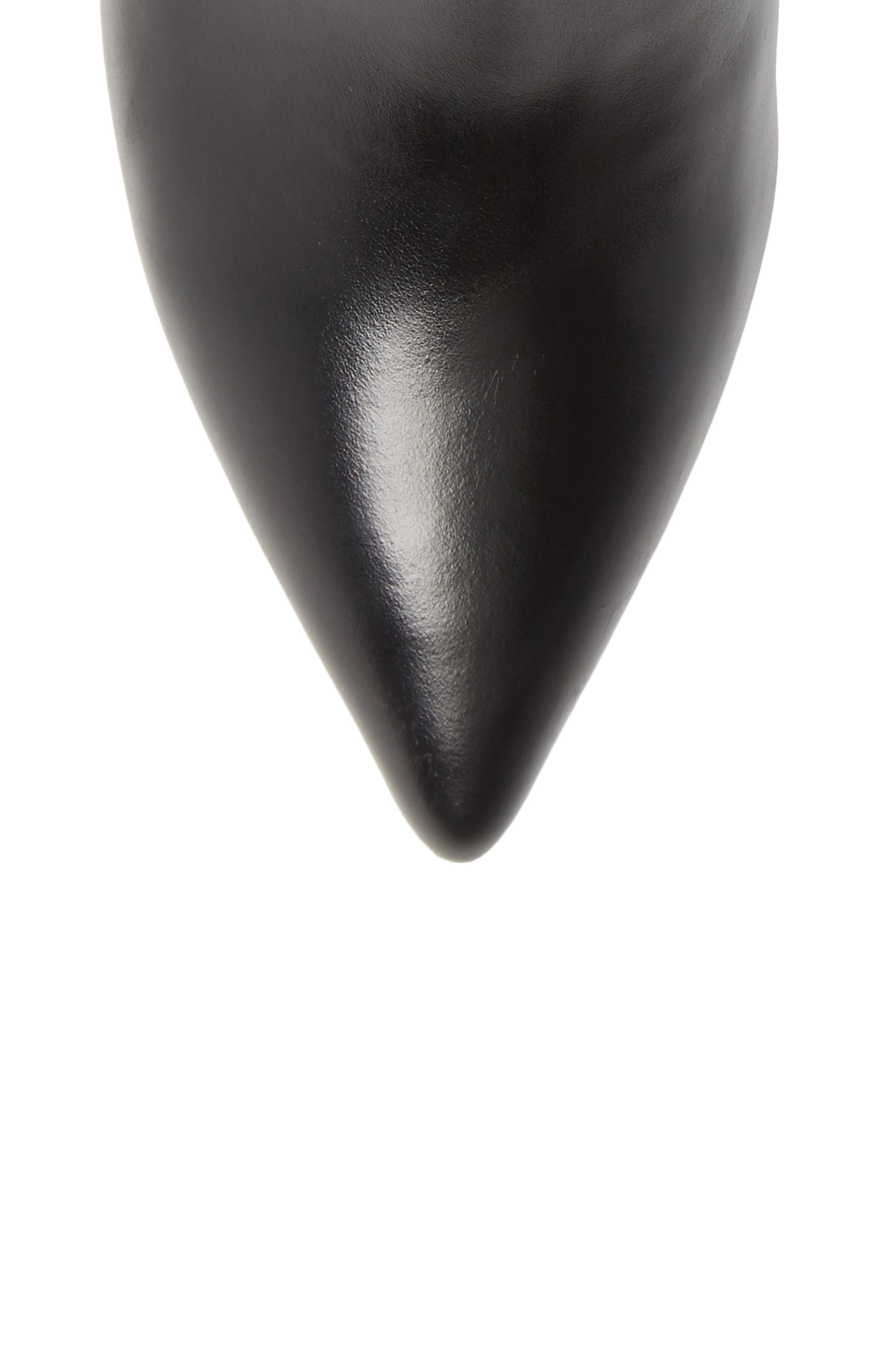 Akilina Bootie,                             Alternate thumbnail 5, color,                             BLACK LEATHER