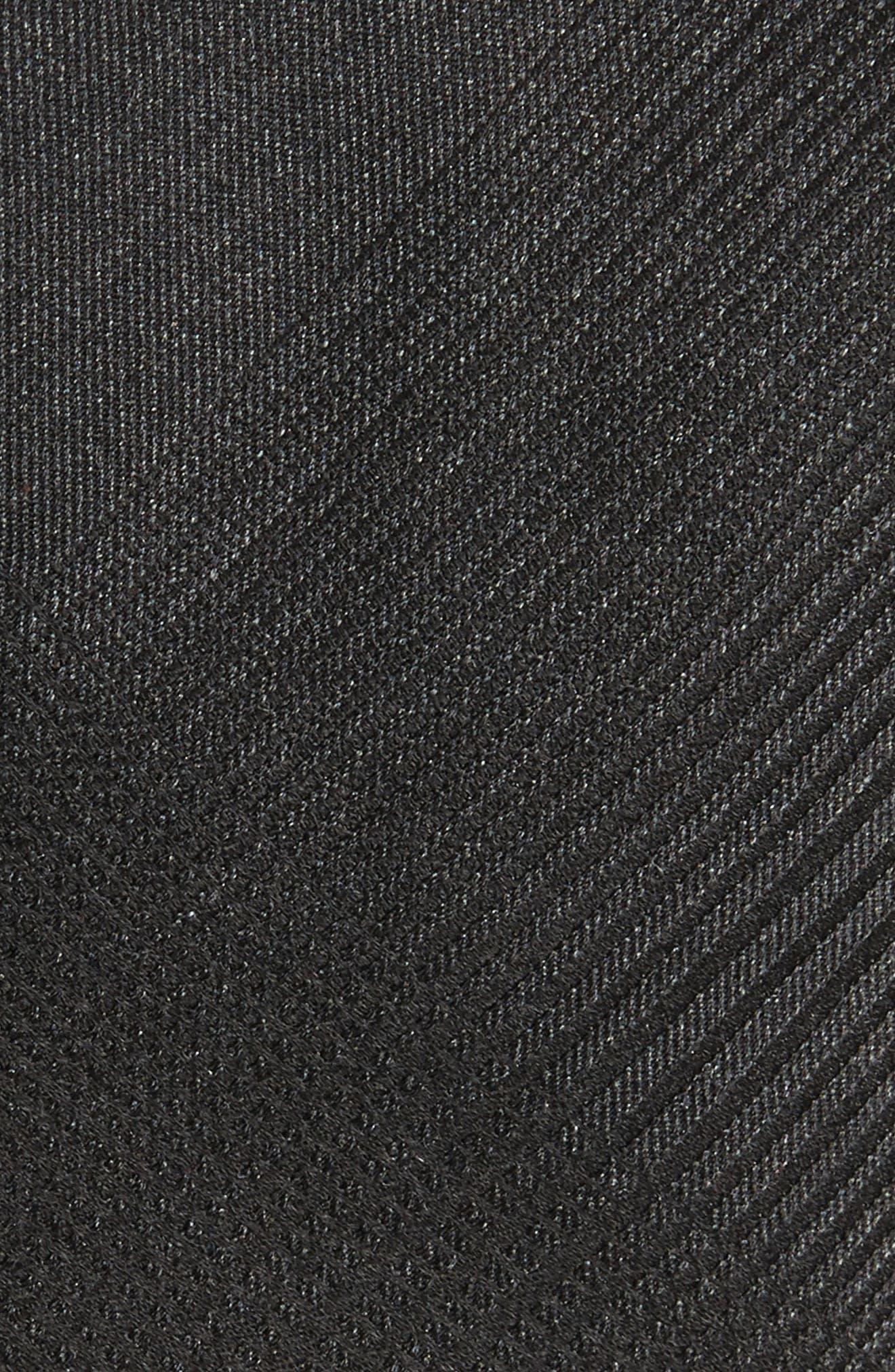 Tonal Check Silk Skinny Tie,                             Alternate thumbnail 4, color,