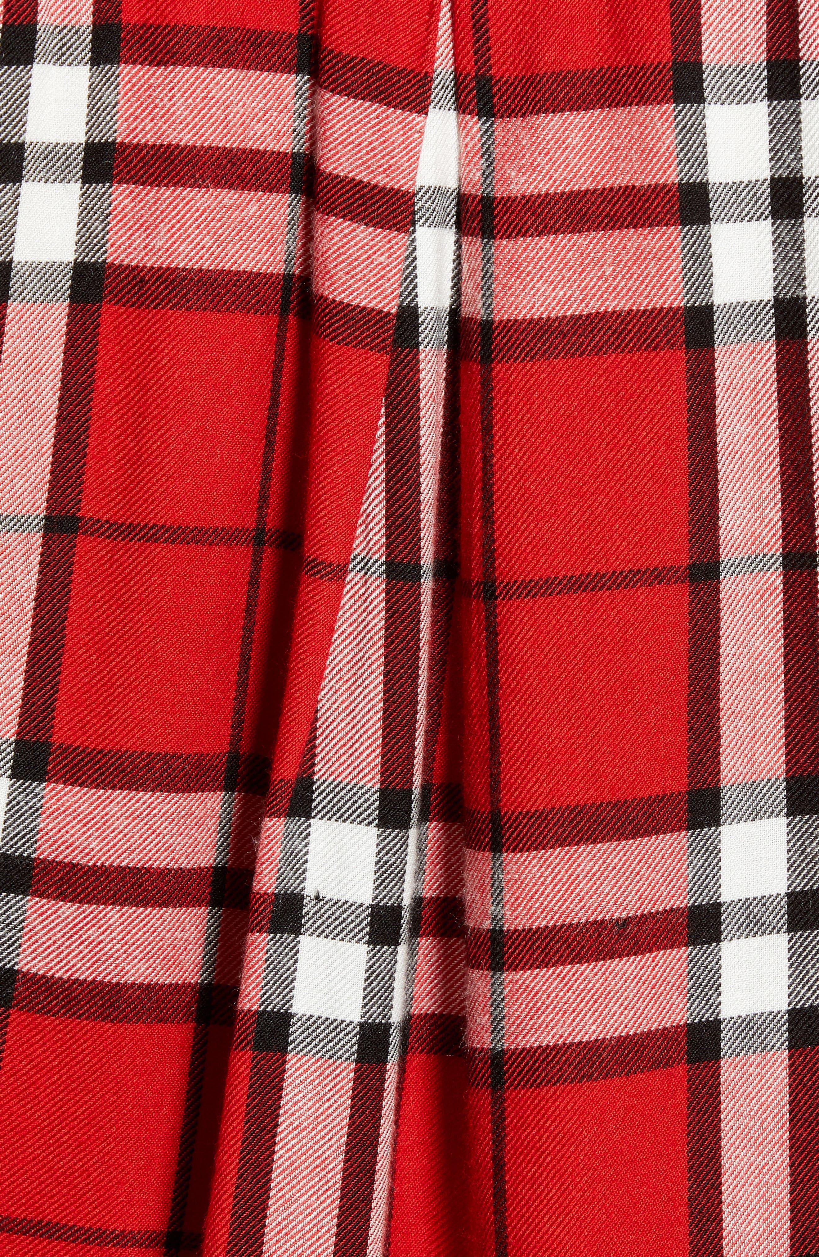 Plaid Shirt,                             Alternate thumbnail 5, color,                             RED MULTI