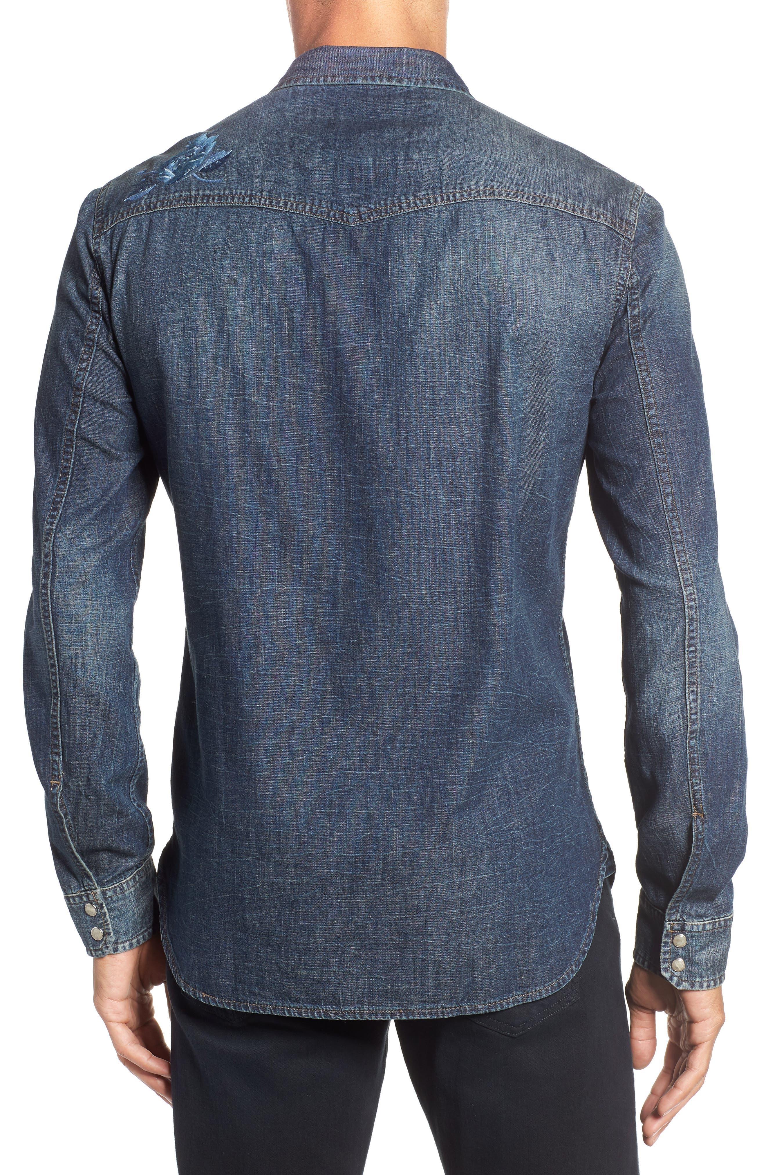Desert Rose Denim Shirt,                             Alternate thumbnail 2, color,                             INDIGO