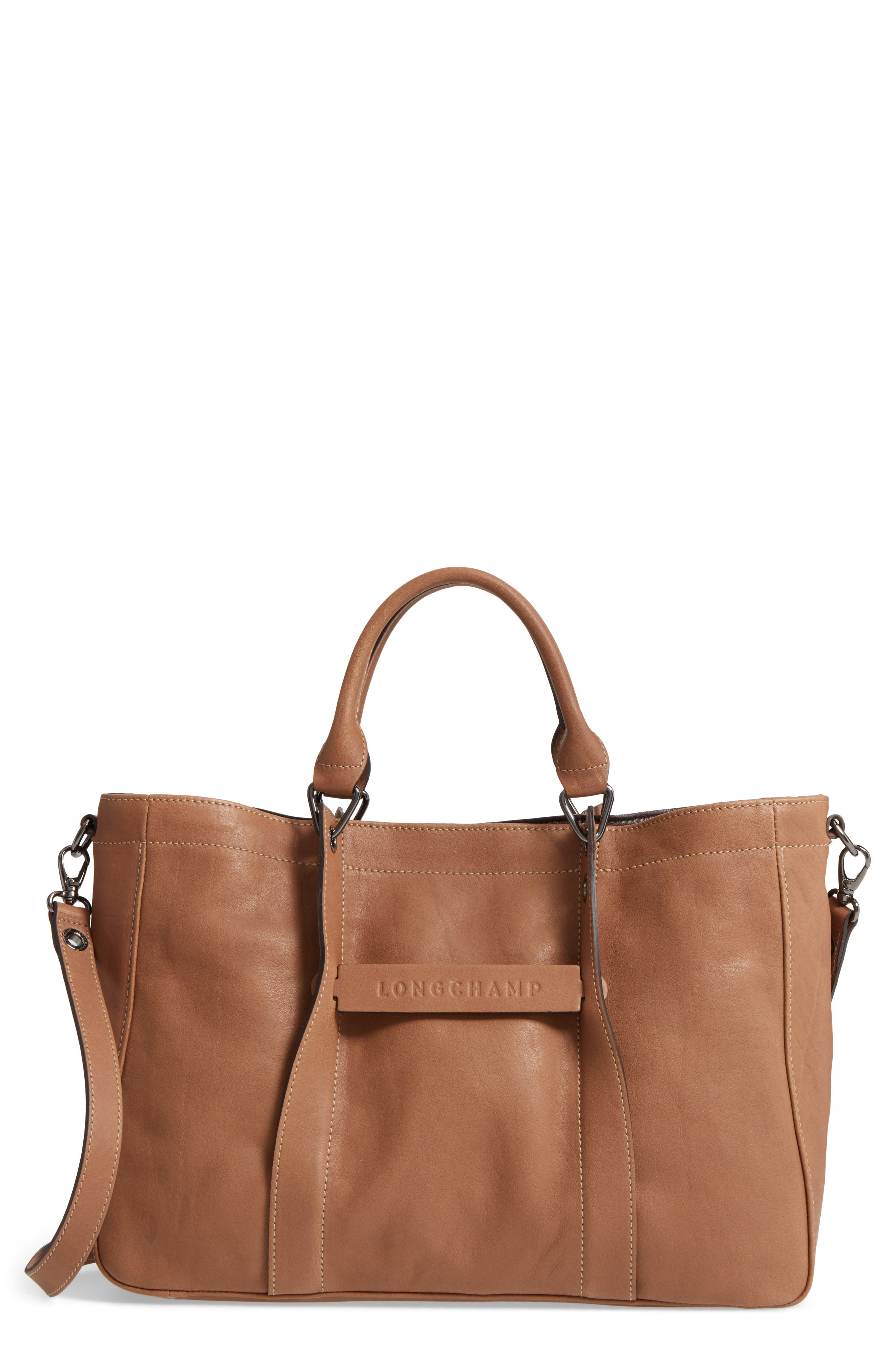 3D Leather Tote,                         Main,                         color, 250