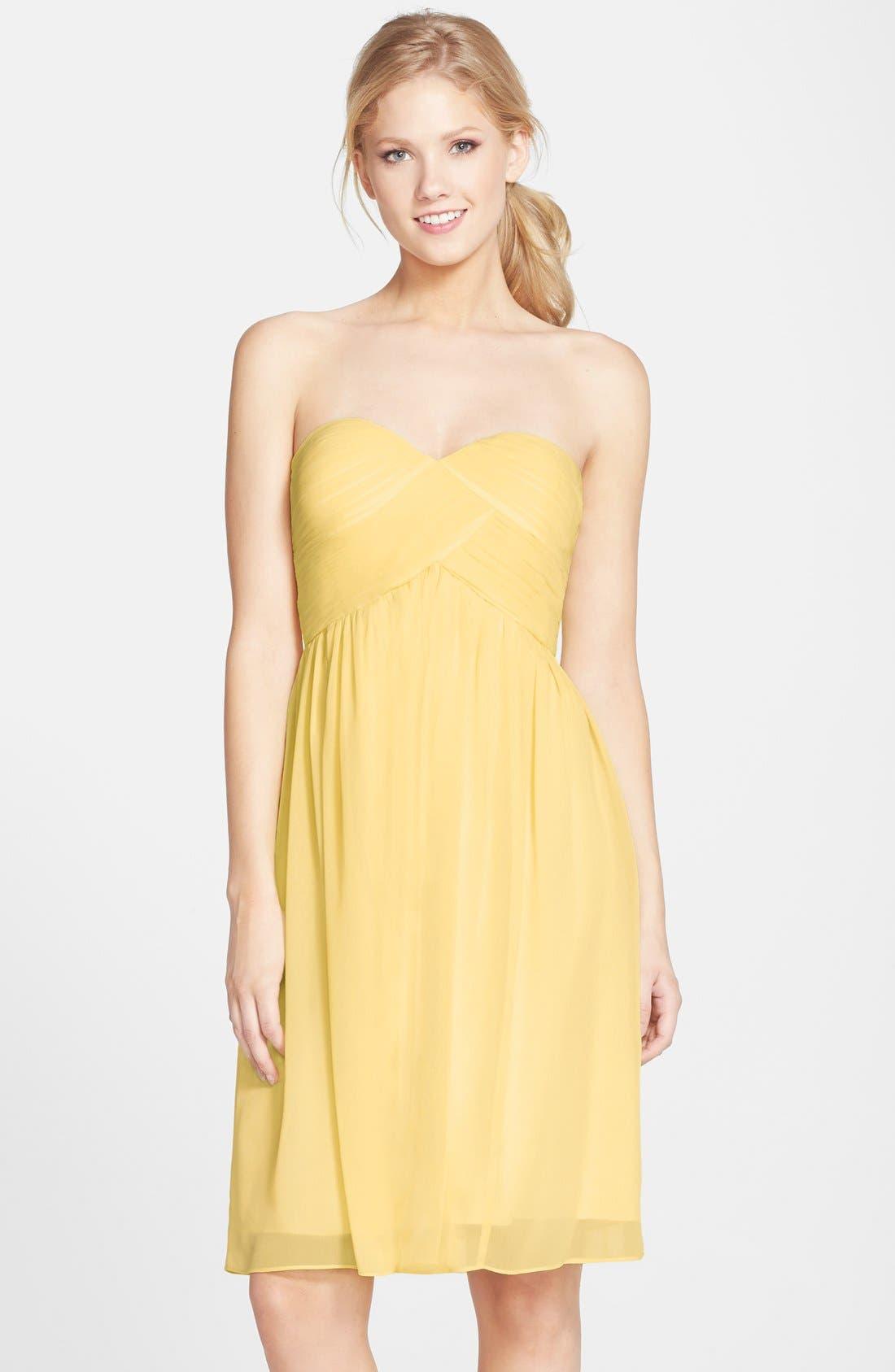 'Morgan' Strapless Silk Chiffon Dress,                             Main thumbnail 37, color,