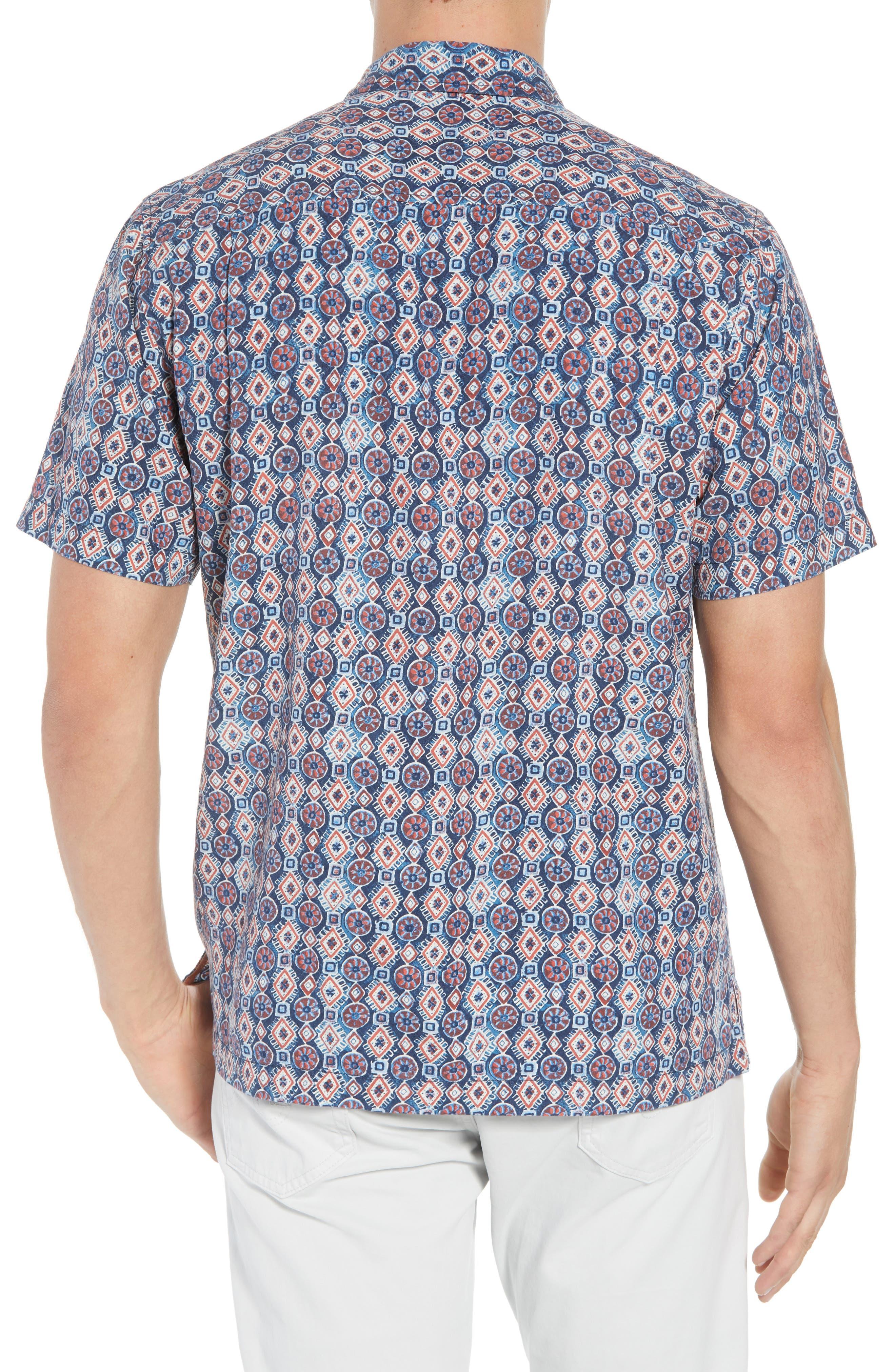 TOMMY BAHAMA,                             Tulum Tiles Silk Camp Shirt,                             Alternate thumbnail 2, color,                             400