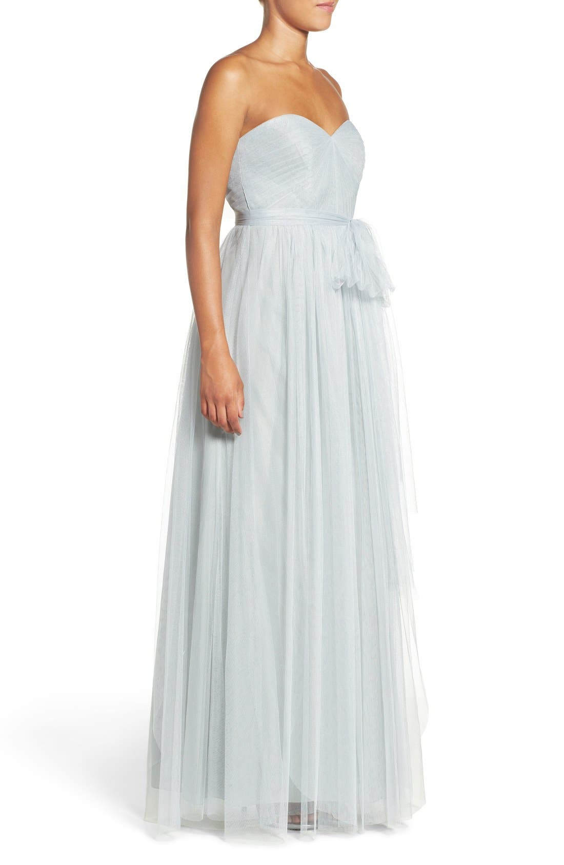 Annabelle Convertible Tulle Column Dress,                             Alternate thumbnail 52, color,