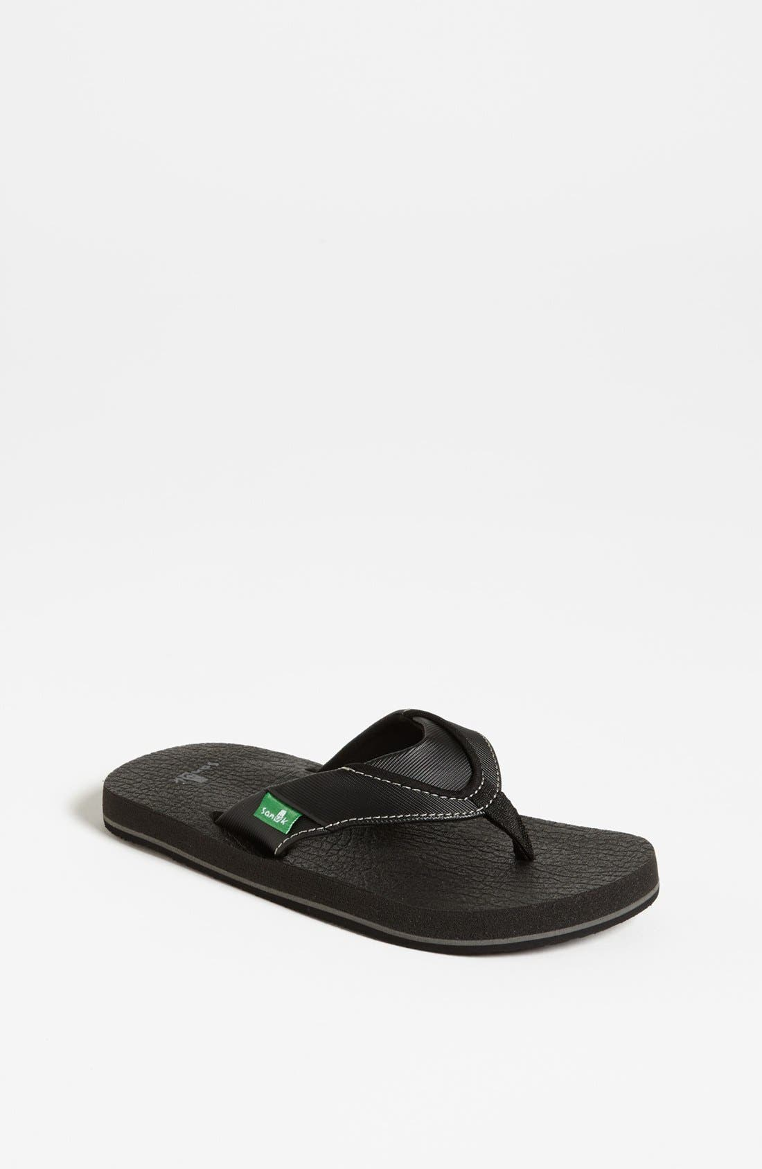 'Root Beer' Sandal,                         Main,                         color, BLACK