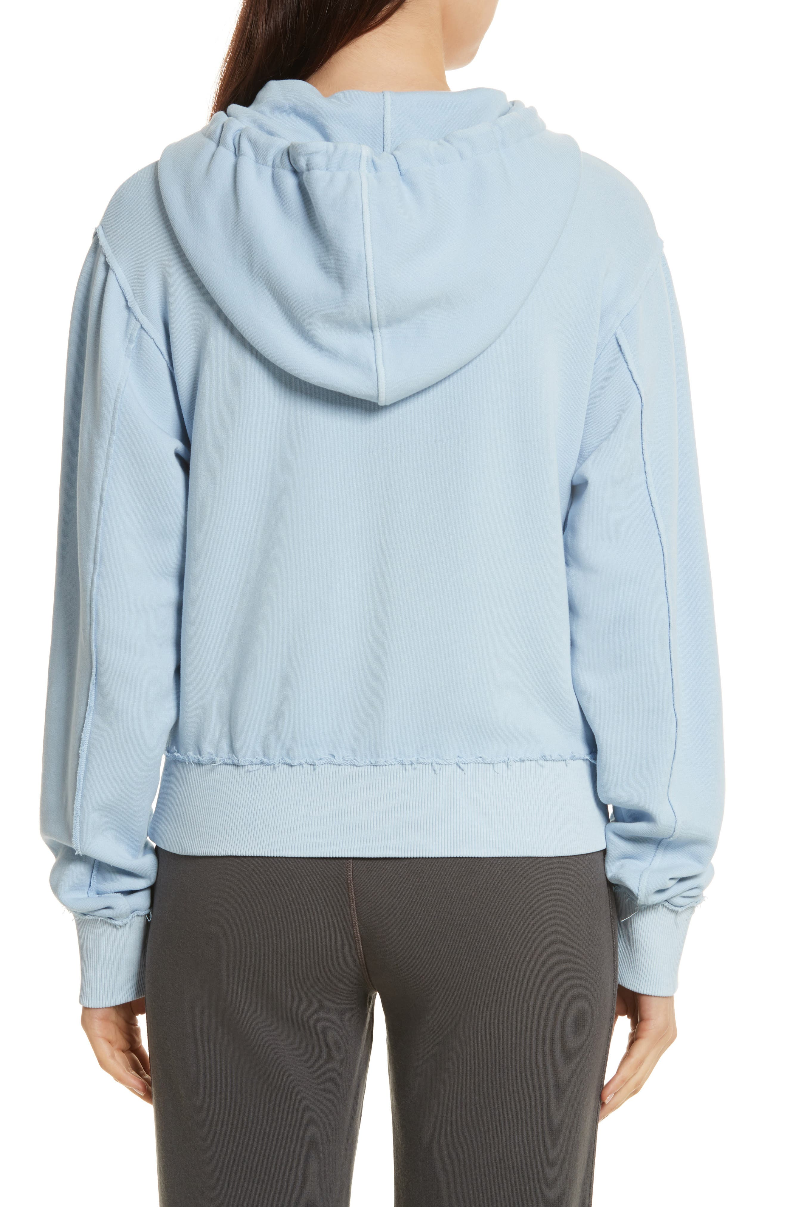 Raw Edge Hoodie,                             Alternate thumbnail 7, color,