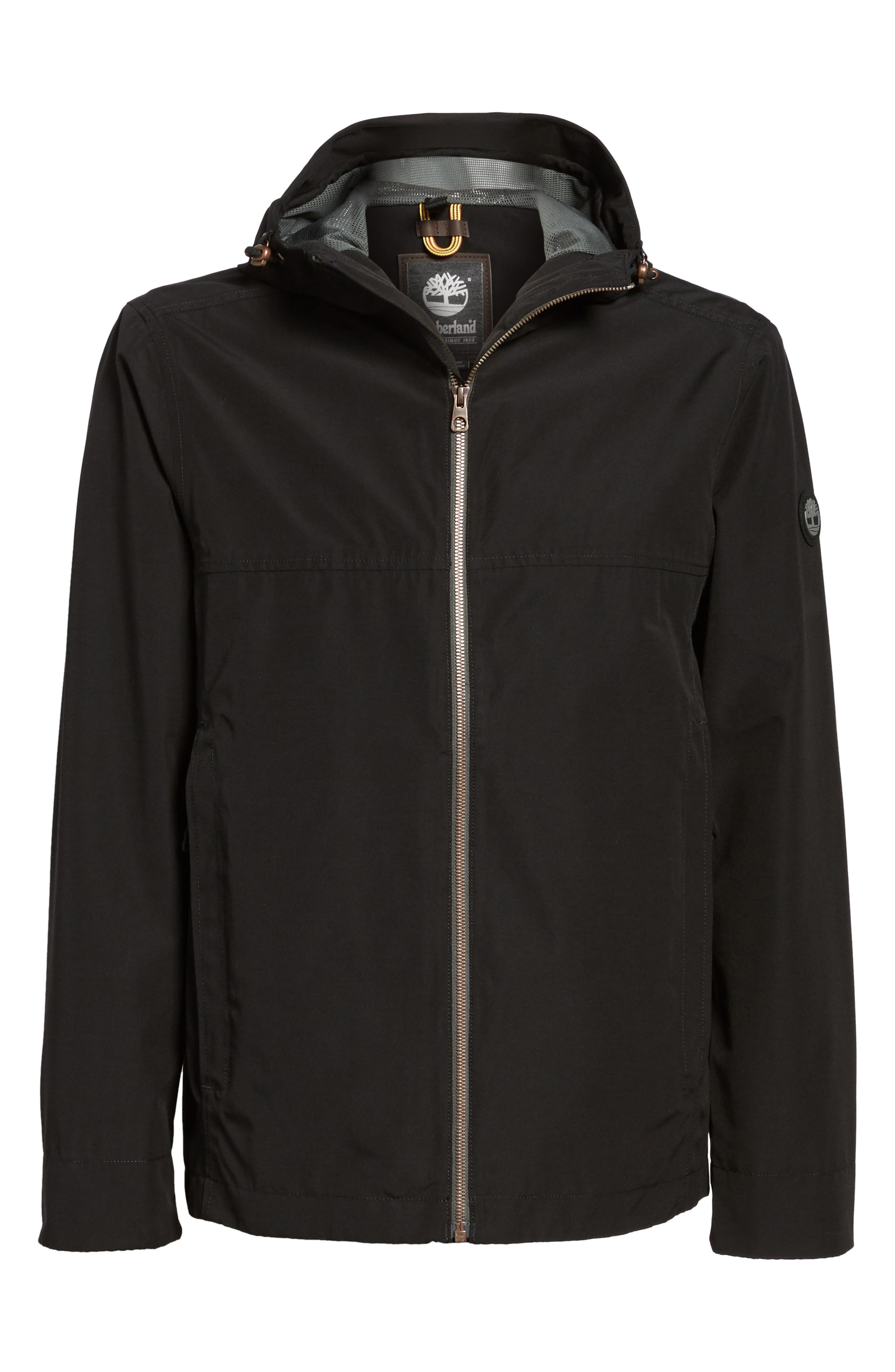 Ragged Mountain Packable Waterproof Jacket,                             Alternate thumbnail 5, color,                             001