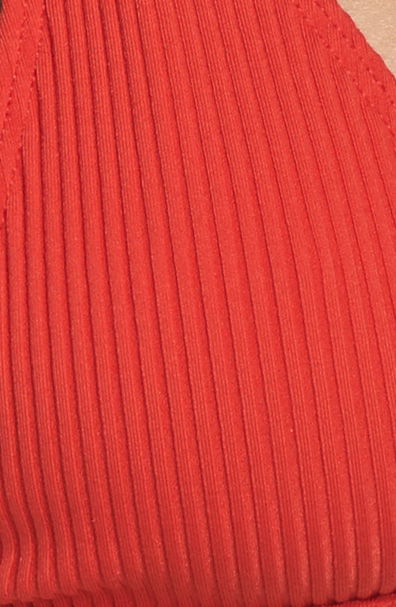 The Mirage Ribbed Bikini Top,                             Alternate thumbnail 6, color,