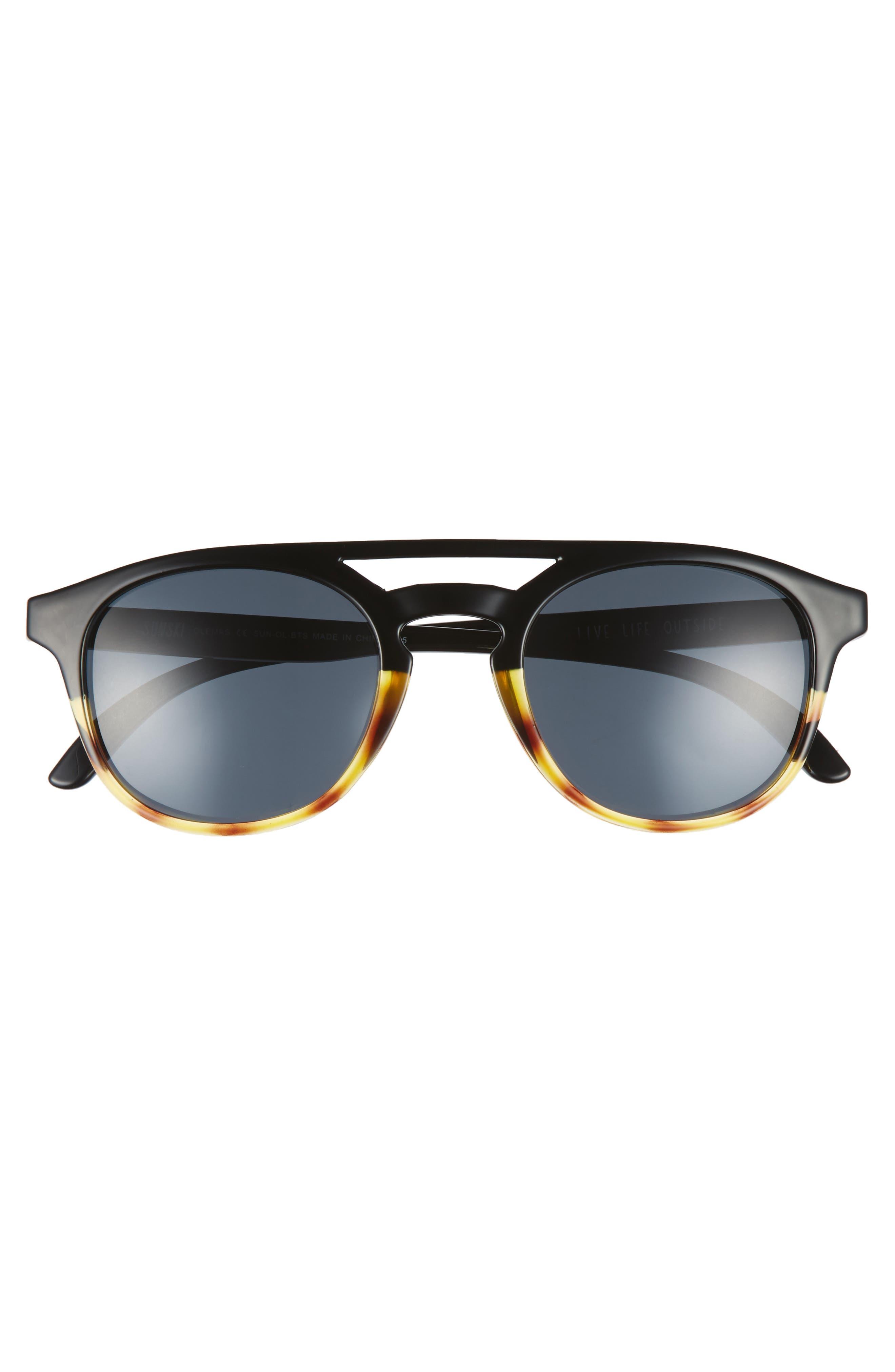 Olema 53mm Polarized Sunglasses,                             Alternate thumbnail 3, color,                             BLACK TORTOISE SLATE