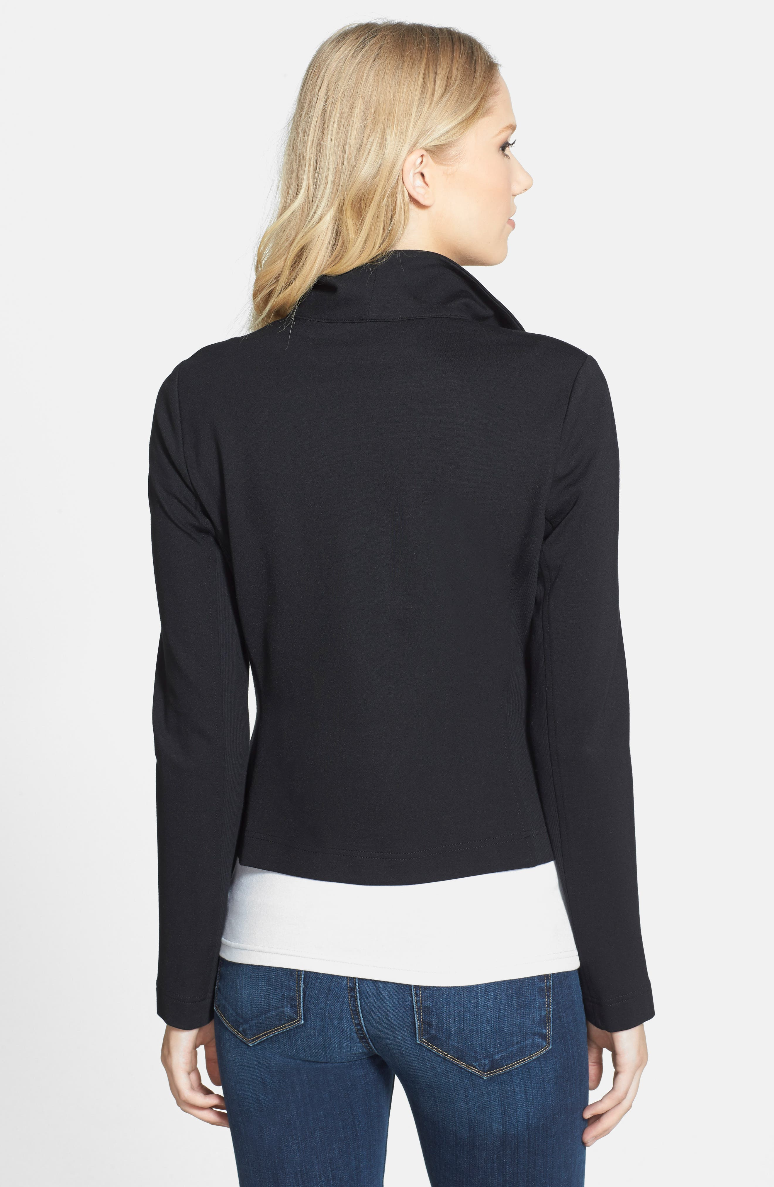 Two by Vince Camuto Ponte Moto Jacket,                             Alternate thumbnail 8, color,                             006