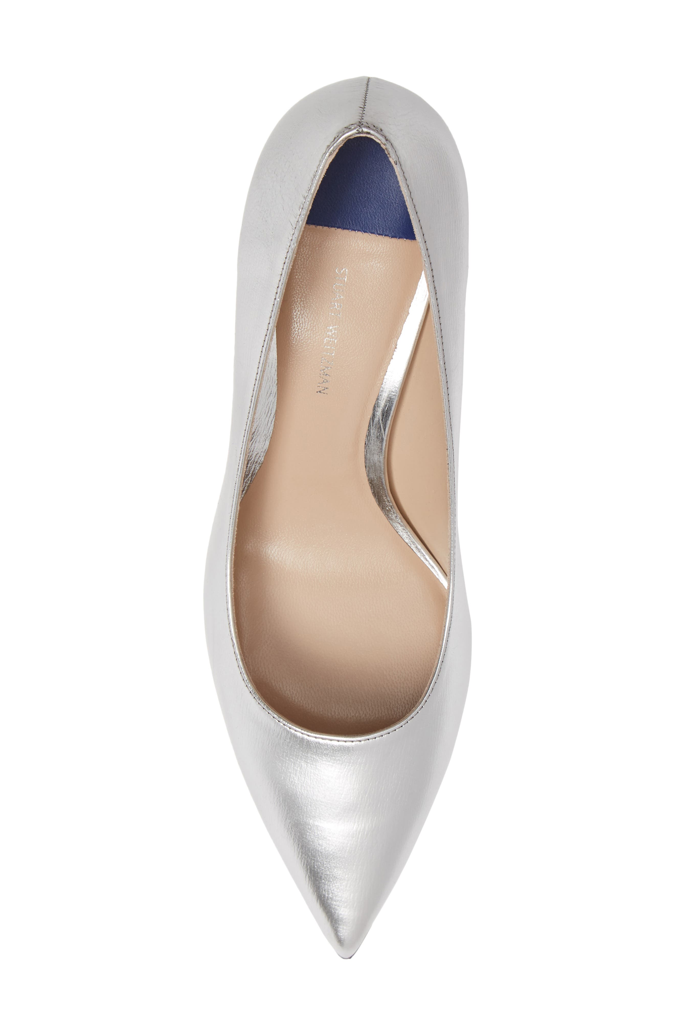 Tippi 70 Pointy Toe Pump,                             Alternate thumbnail 5, color,                             SILVER VENICE