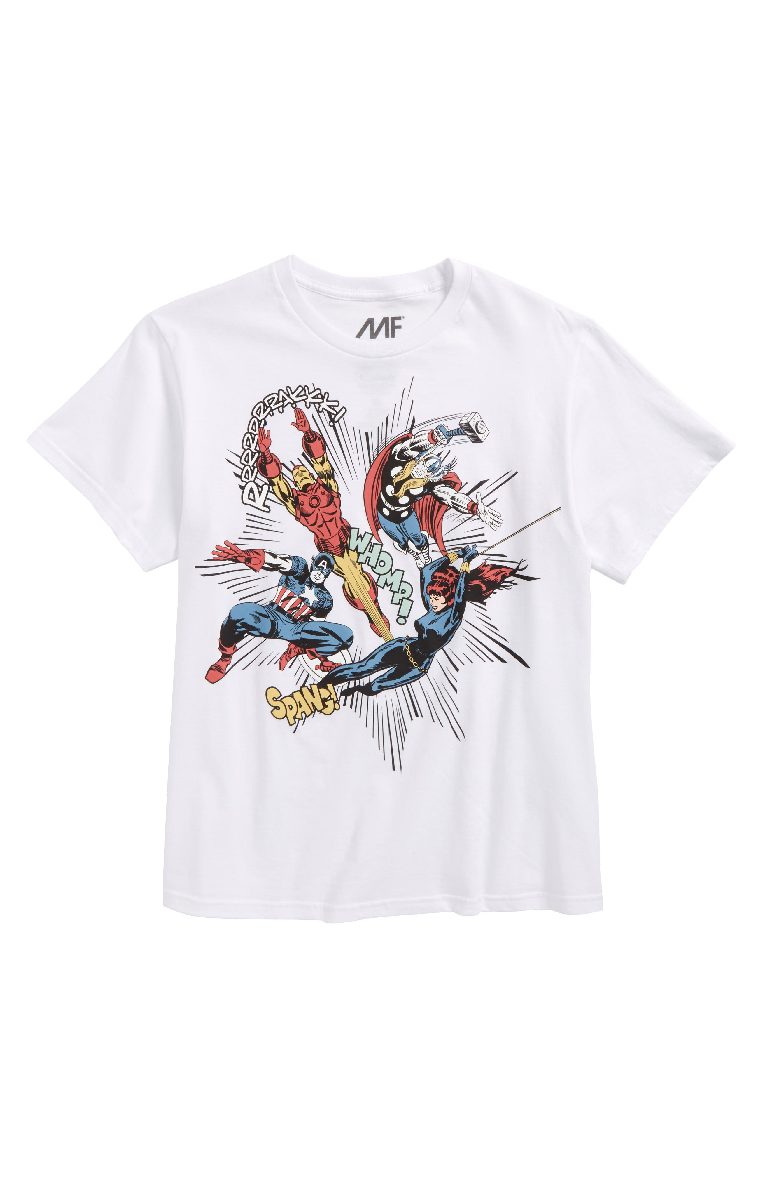 Avengers Oversided Action T-Shirt,                             Main thumbnail 1, color,                             100