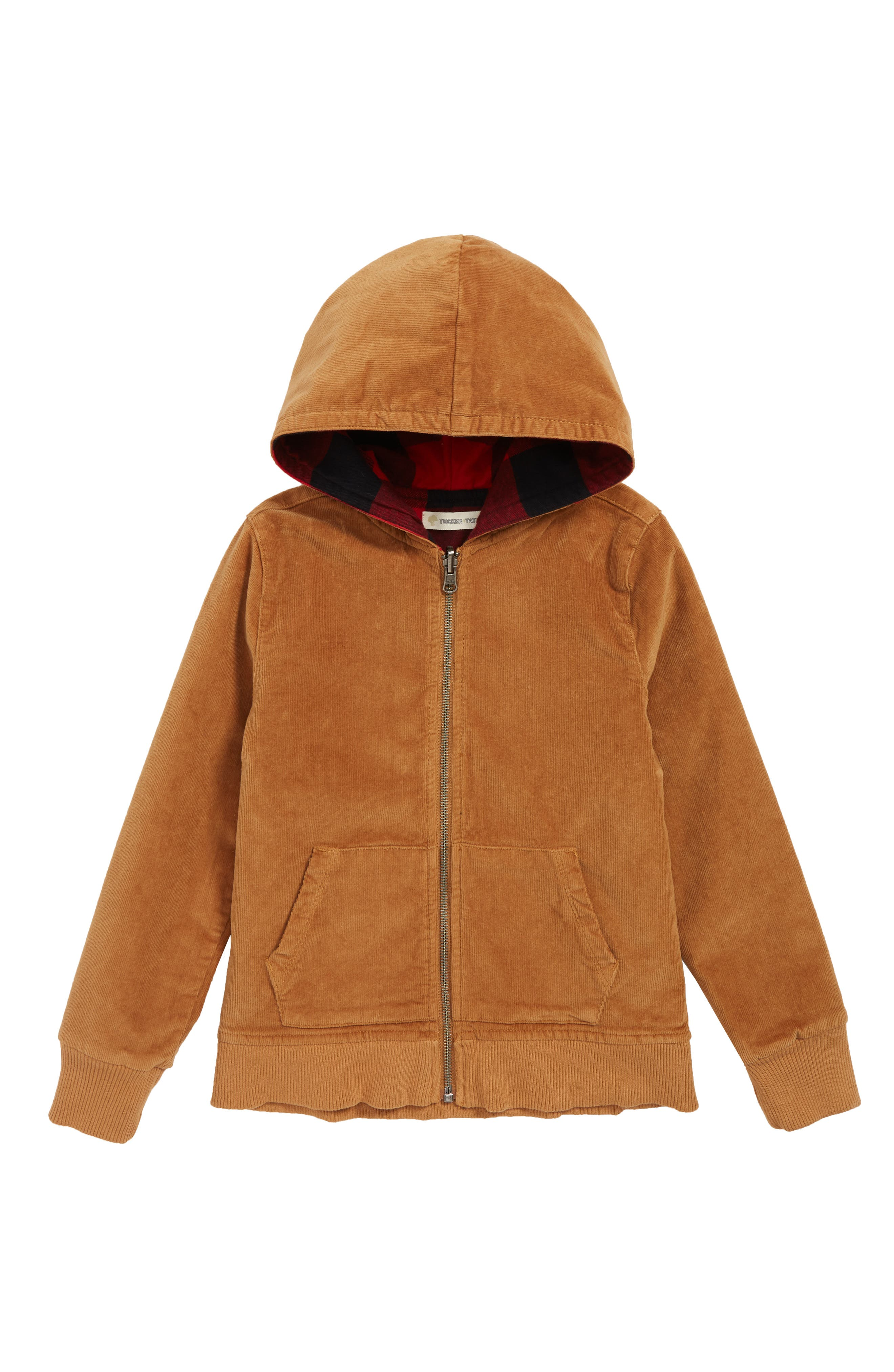 Reversible Corduroy/Plaid Hooded Jacket,                         Main,                         color, TAN DALE