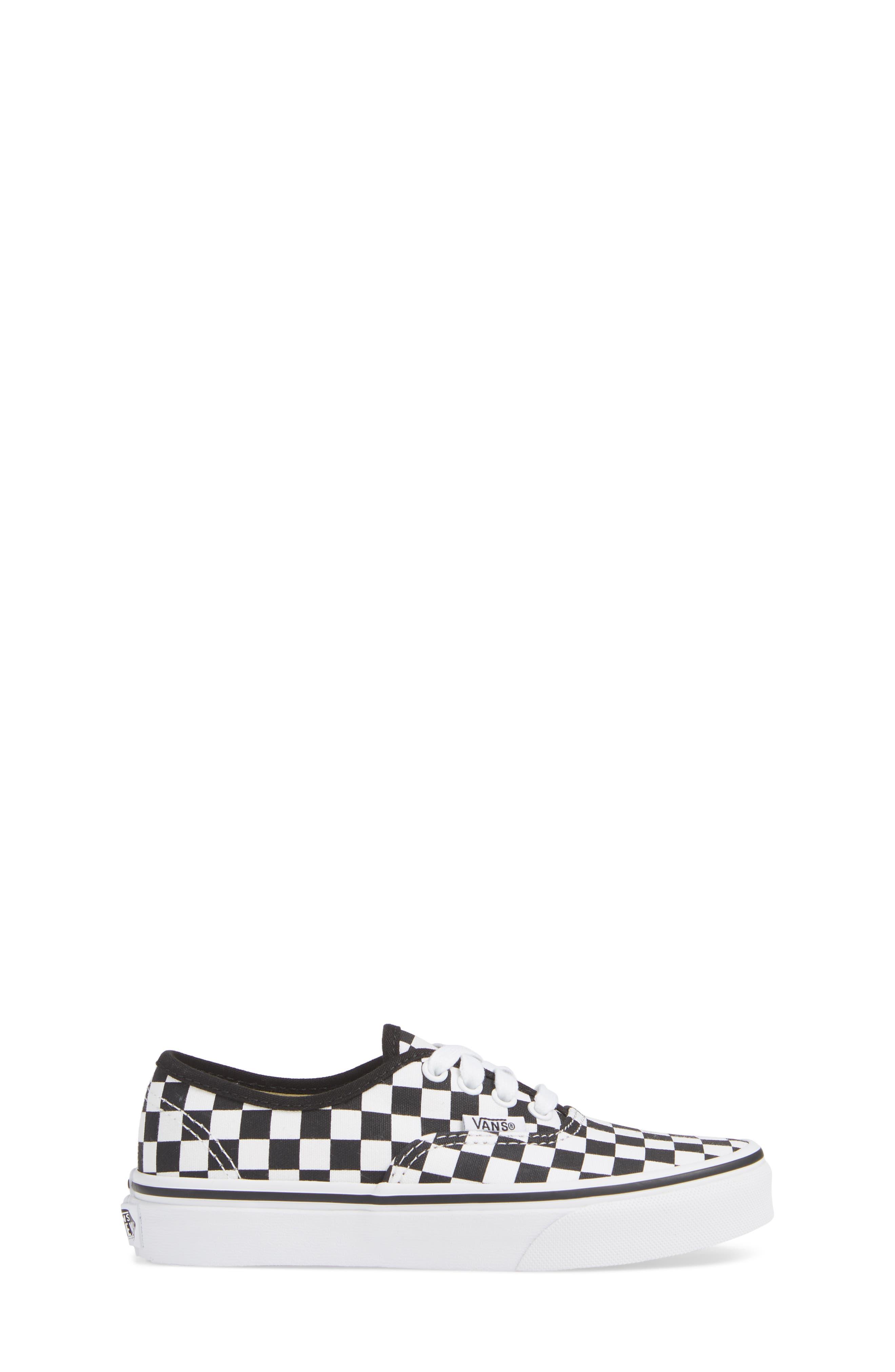 Authentic Elastic Lace Sneaker,                             Alternate thumbnail 3, color,                             BLACK/ TRUE WHITE