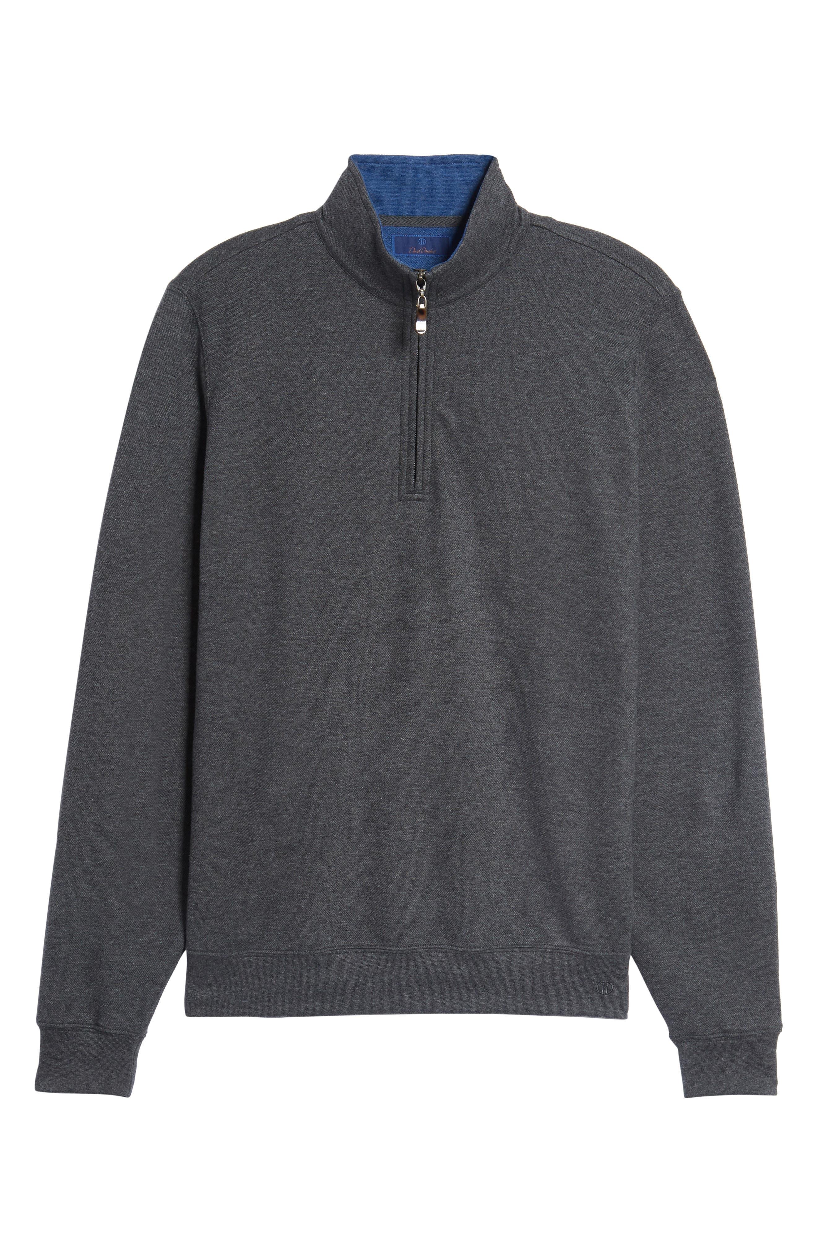 Mélange Quarter Zip Pullover,                             Alternate thumbnail 16, color,