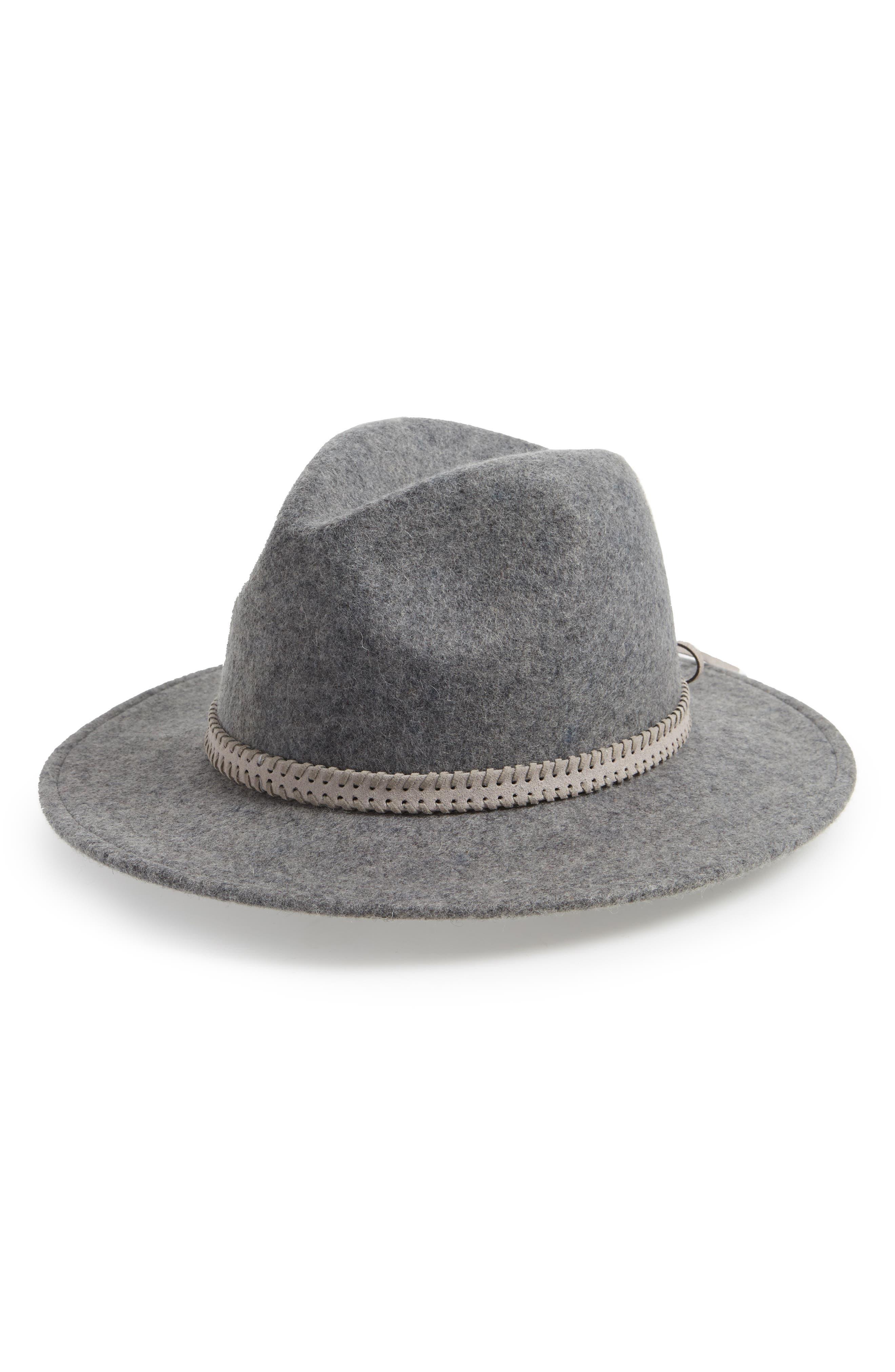 Felt Panama Hat,                         Main,                         color, GREY LIGHT HEATHER