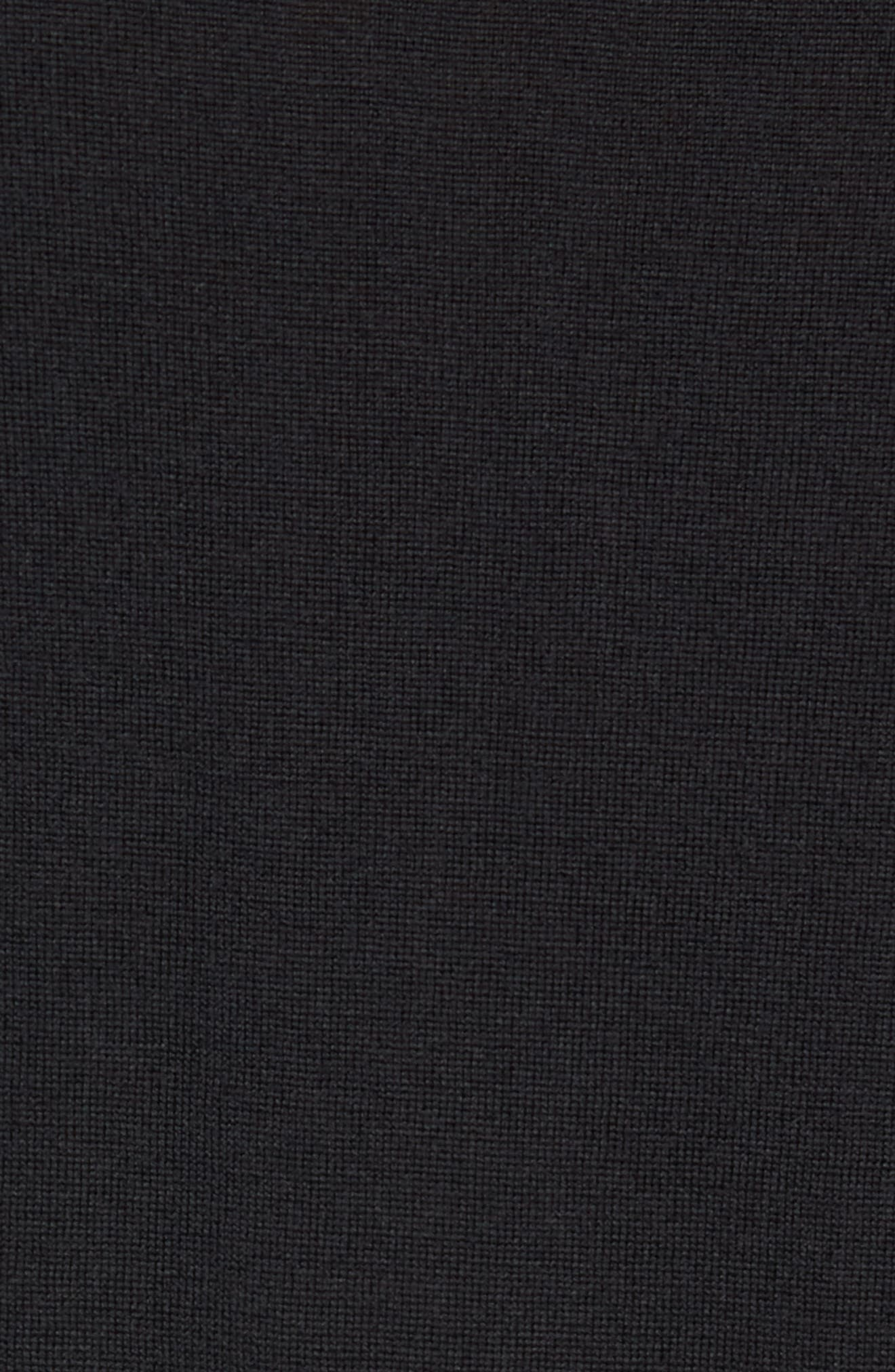 Slim Fit Long Sleeve Merino Polo,                             Alternate thumbnail 5, color,                             001