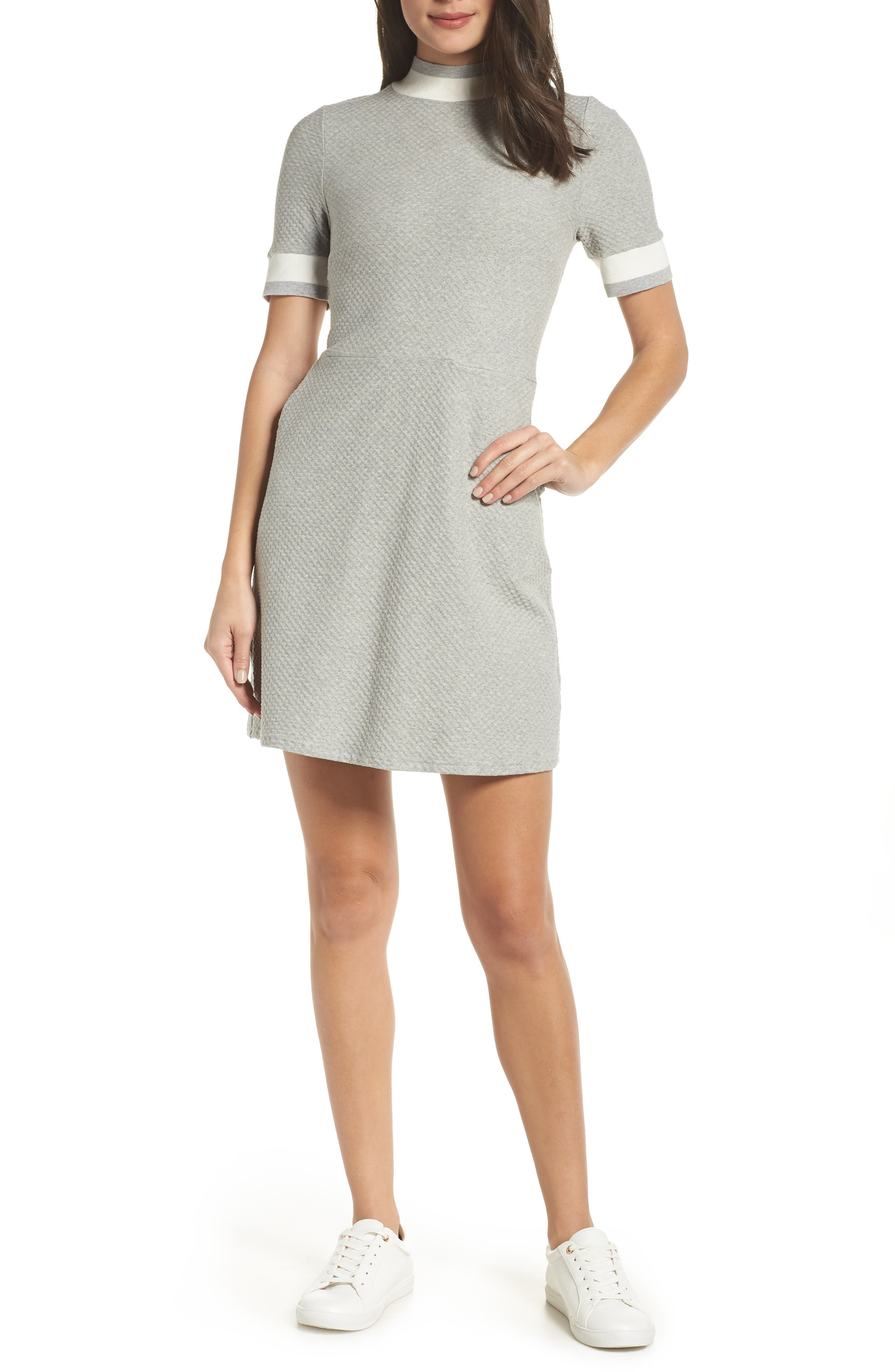 French Connection Savos Sudan Jersey Dress, Grey