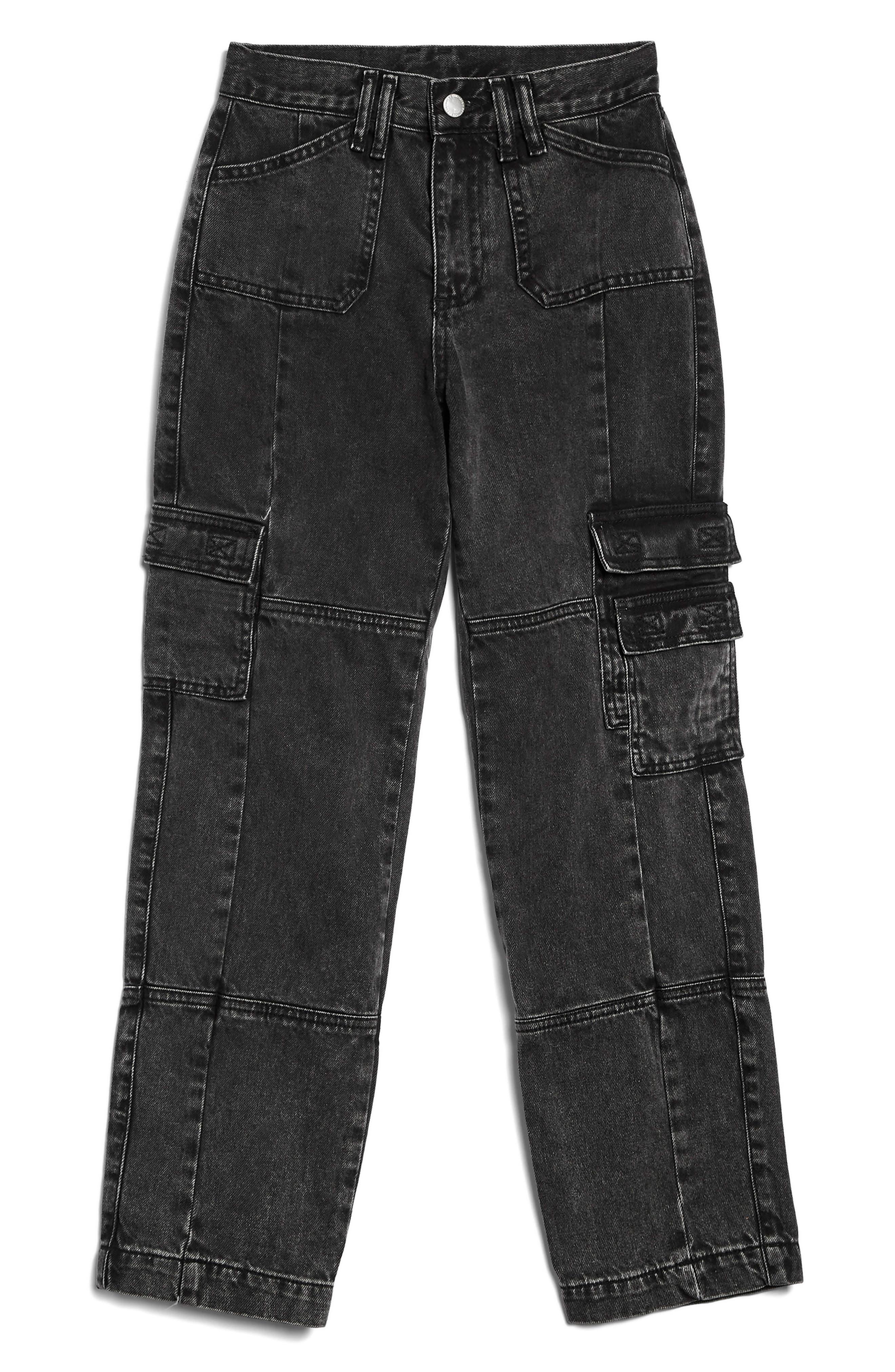 Washed Black Biker Jeans,                             Main thumbnail 1, color,                             003