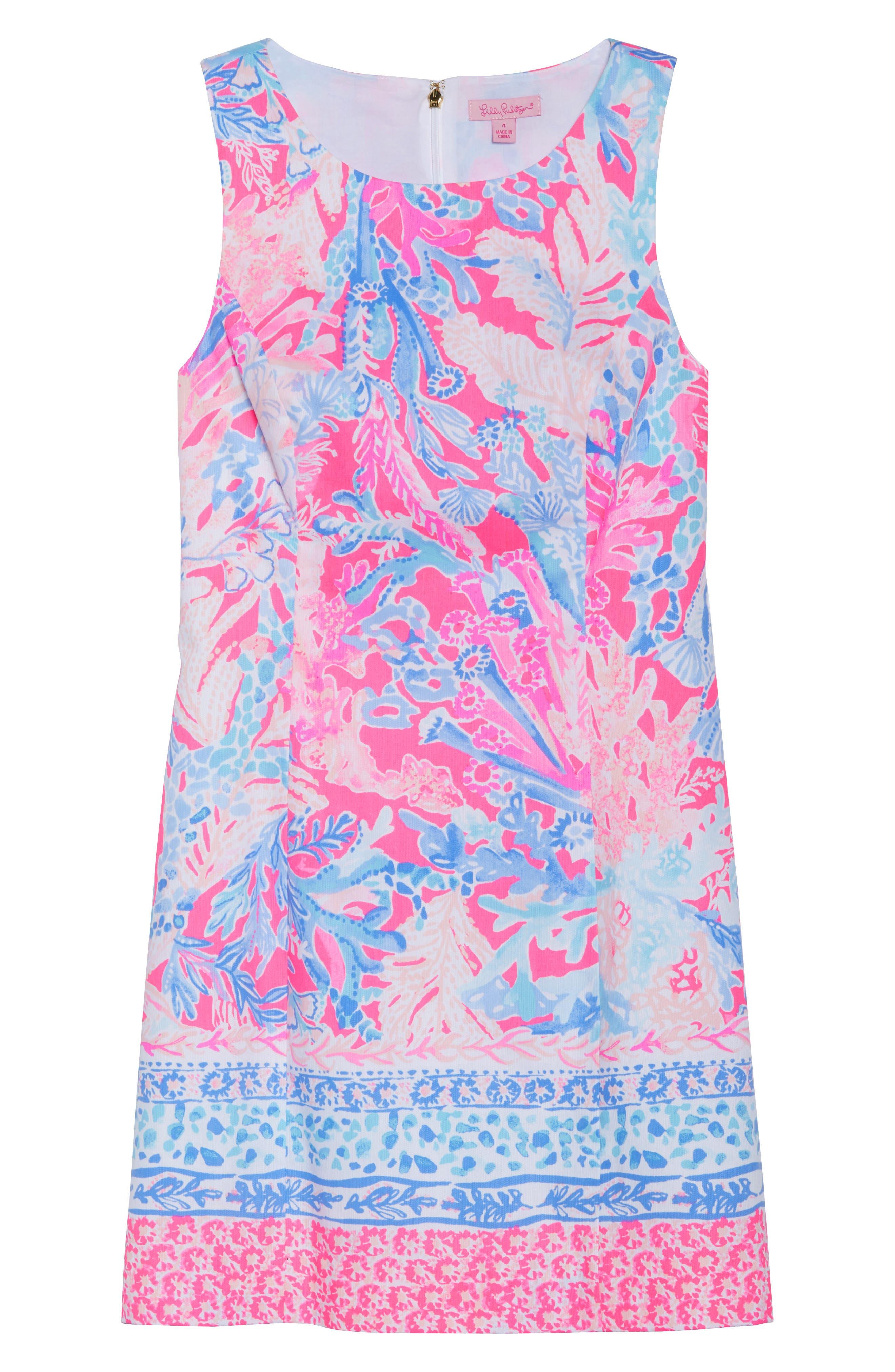 Mila Sheath Dress,                             Alternate thumbnail 7, color,                             LIGHT PASCHA PINK AQUADESIAC