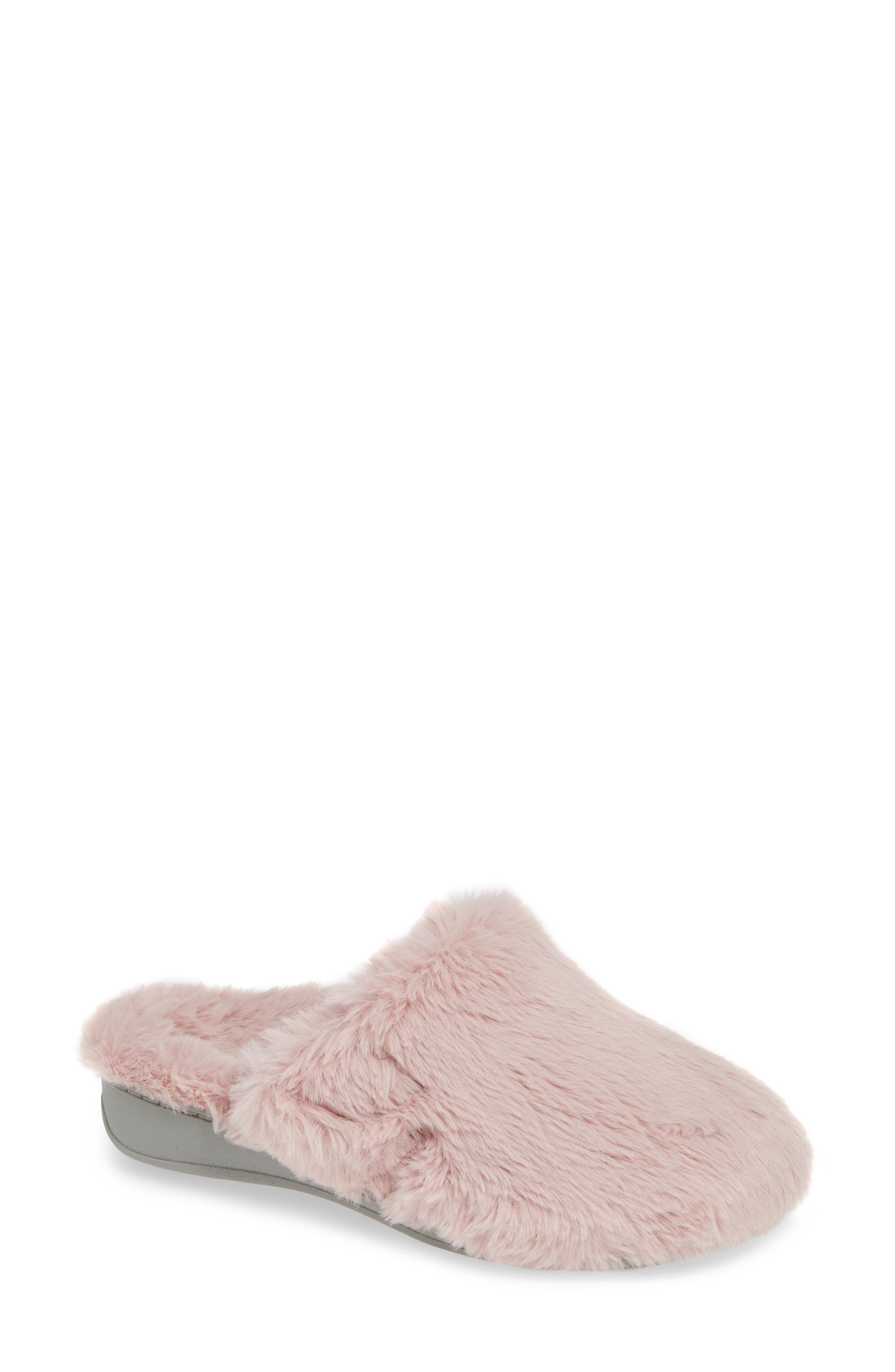 Gemma Plush Slipper,                         Main,                         color, BLUSH