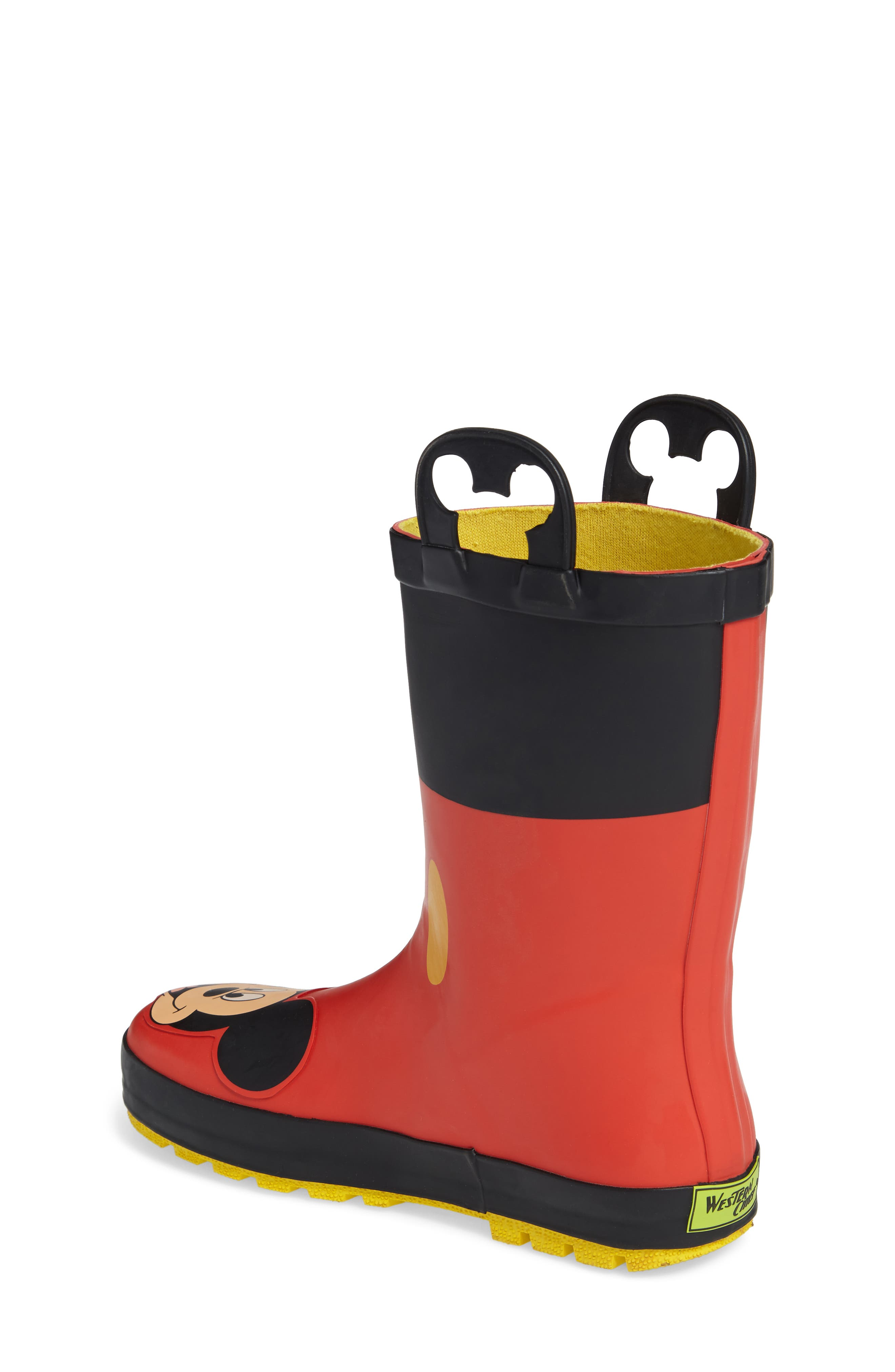 Mickey Mouse Rain Boot,                             Alternate thumbnail 2, color,                             RED