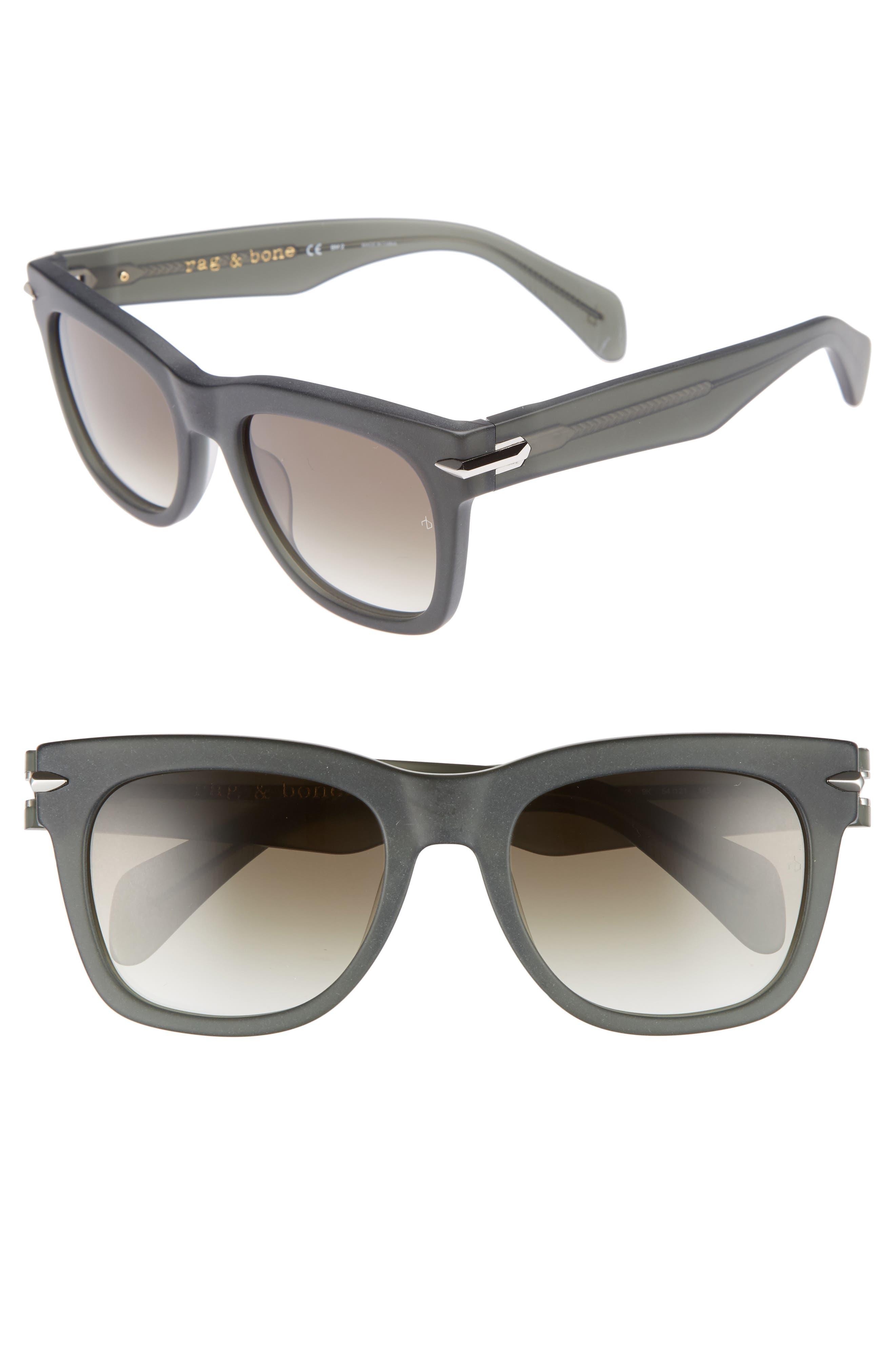 54mm Polarized Sunglasses,                             Main thumbnail 1, color,                             KHAKI