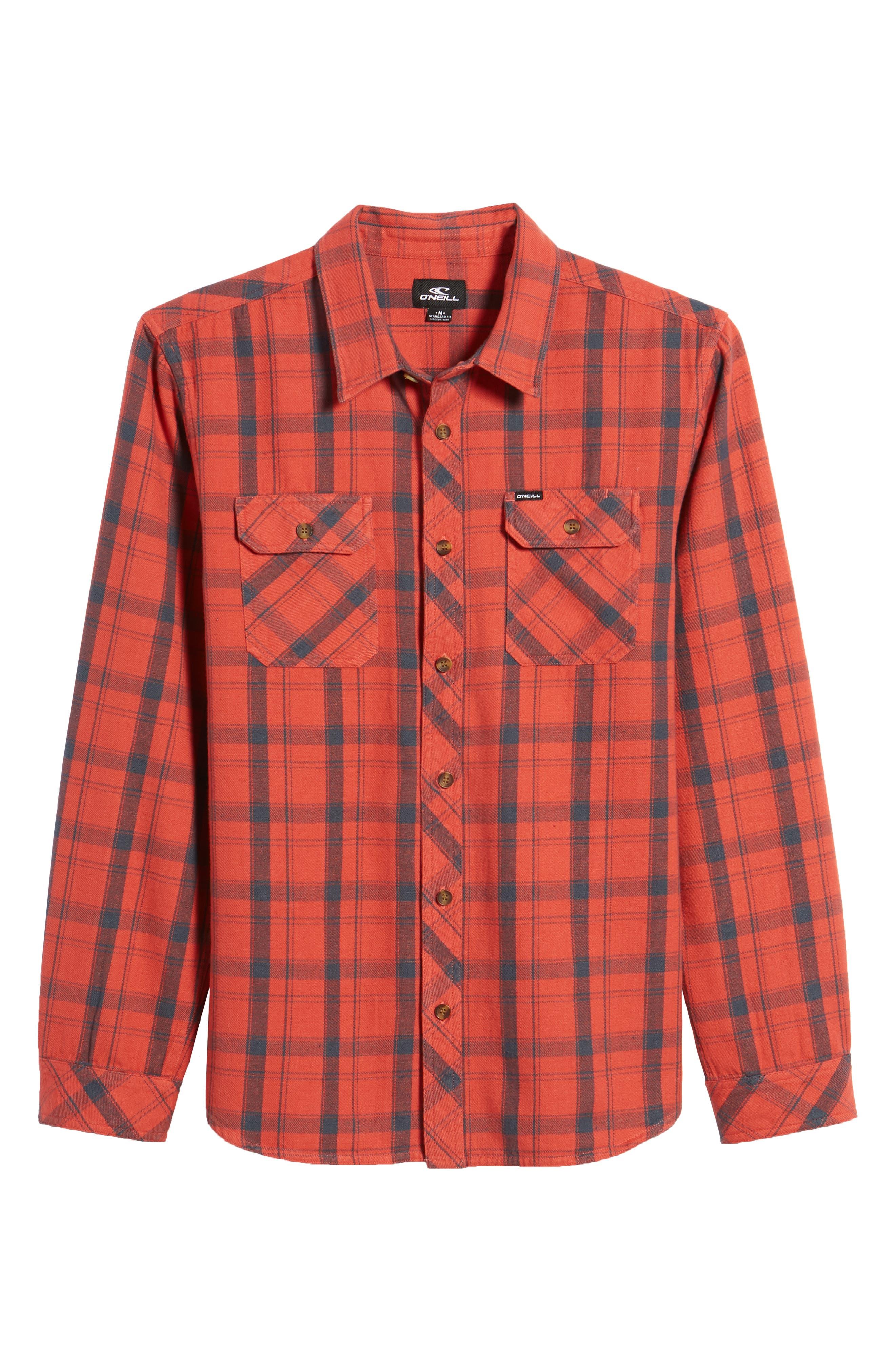 Carpenter Flannel Shirt,                             Alternate thumbnail 17, color,