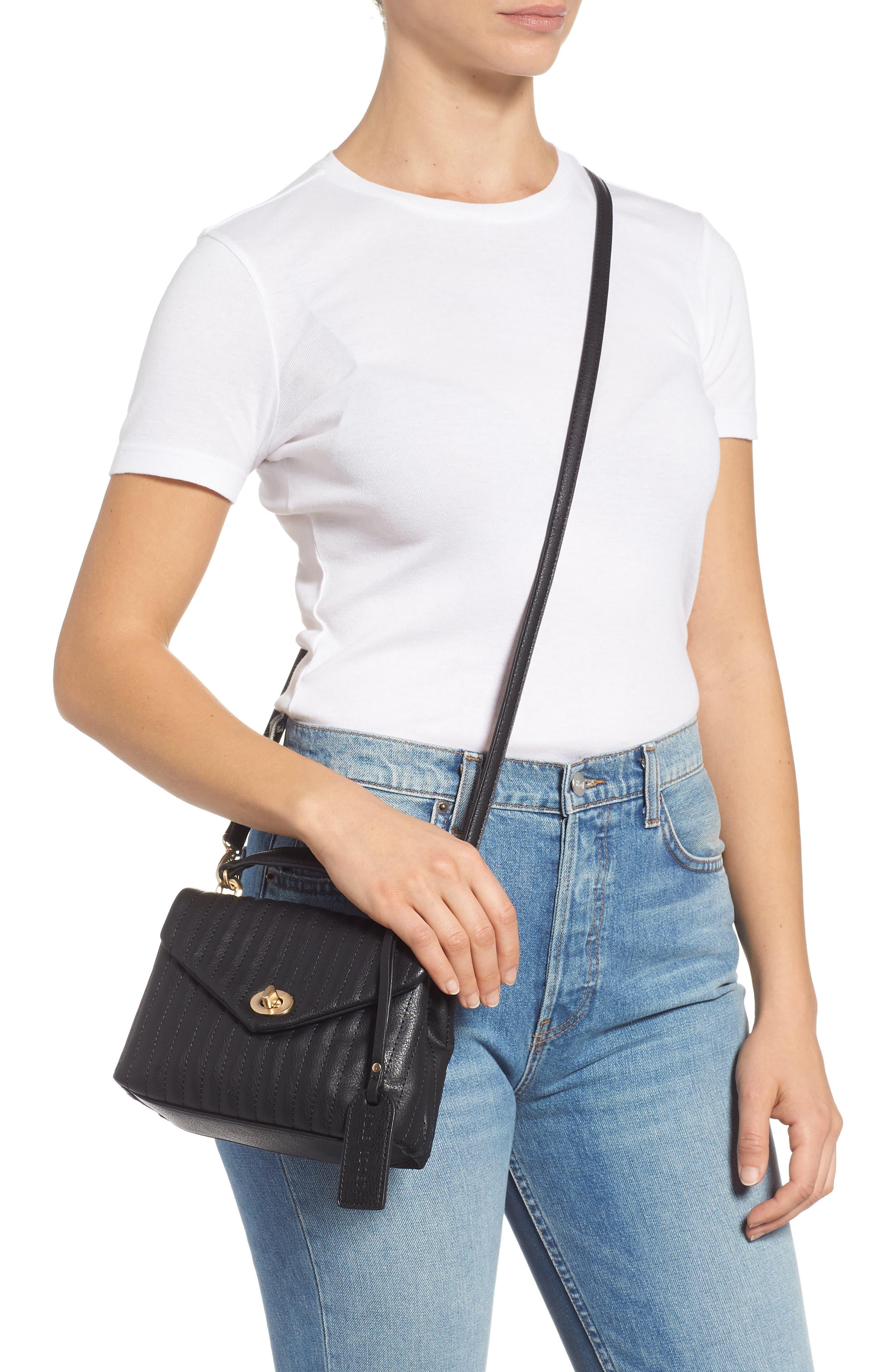 Urche Faux Leather Crossbody Bag,                             Alternate thumbnail 2, color,                             BLACK