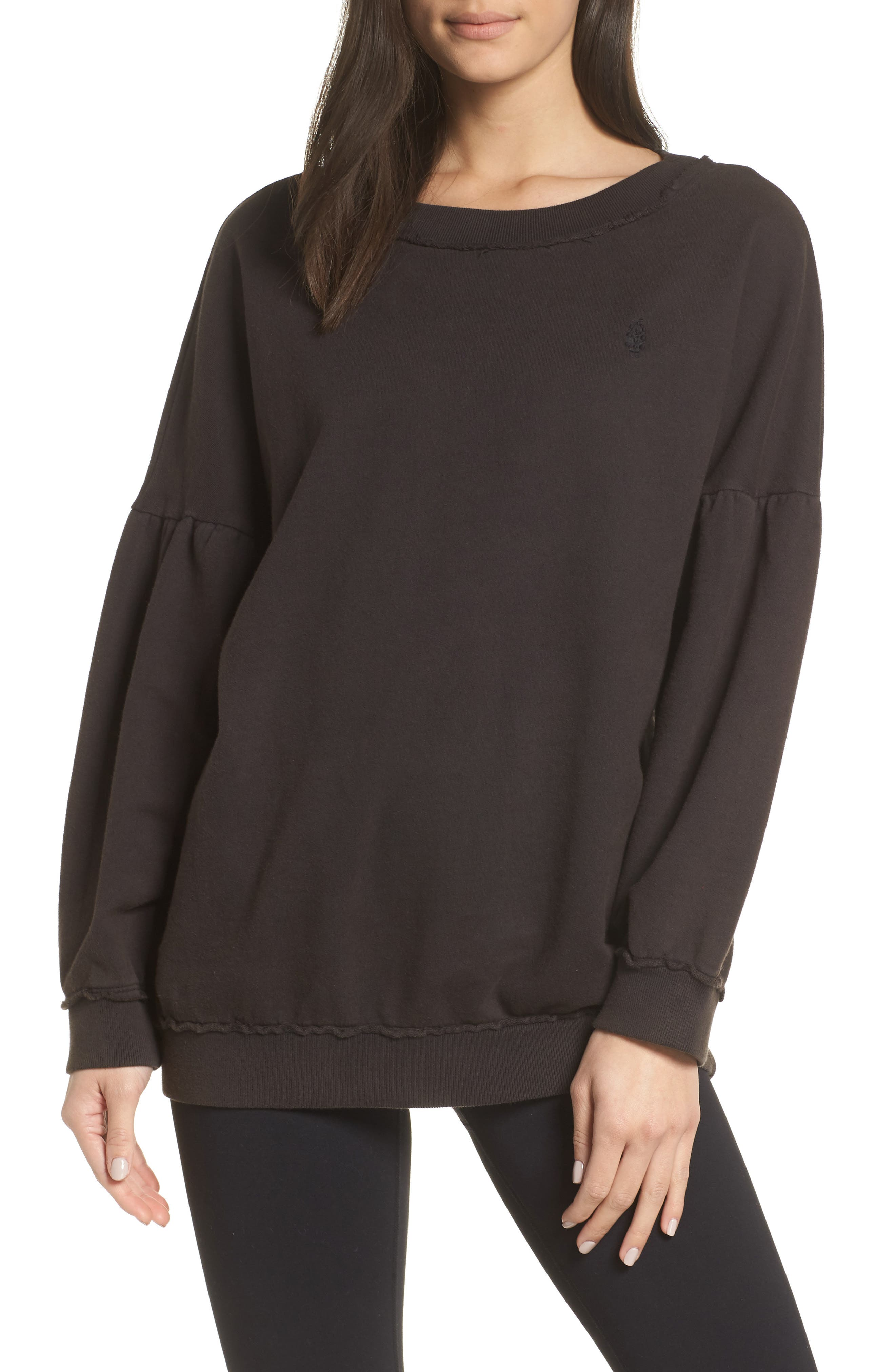 Free People Movement Make It Count Pullover, Black