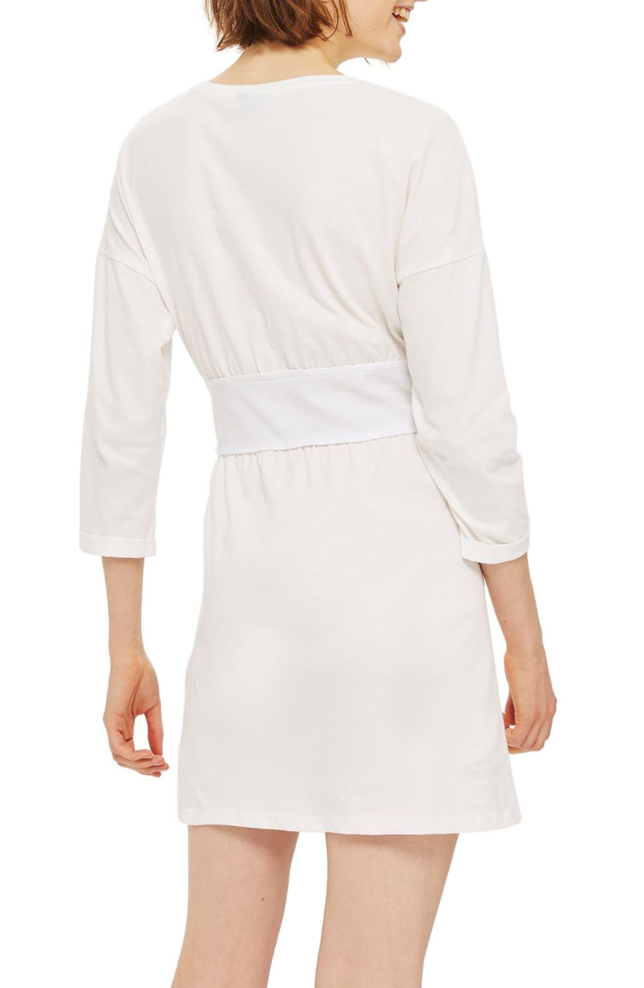 Corset T-Shirt Dress,                             Alternate thumbnail 2, color,                             900