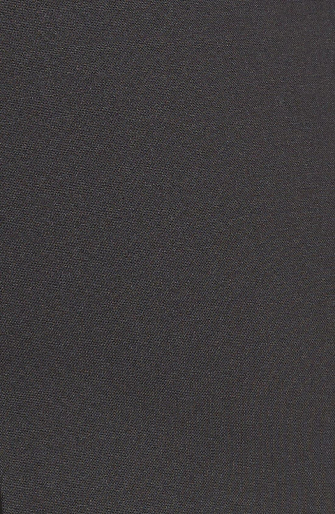 Tiluna Tropical Stretch Wool Ankle Trousers,                             Alternate thumbnail 5, color,                             BLACK
