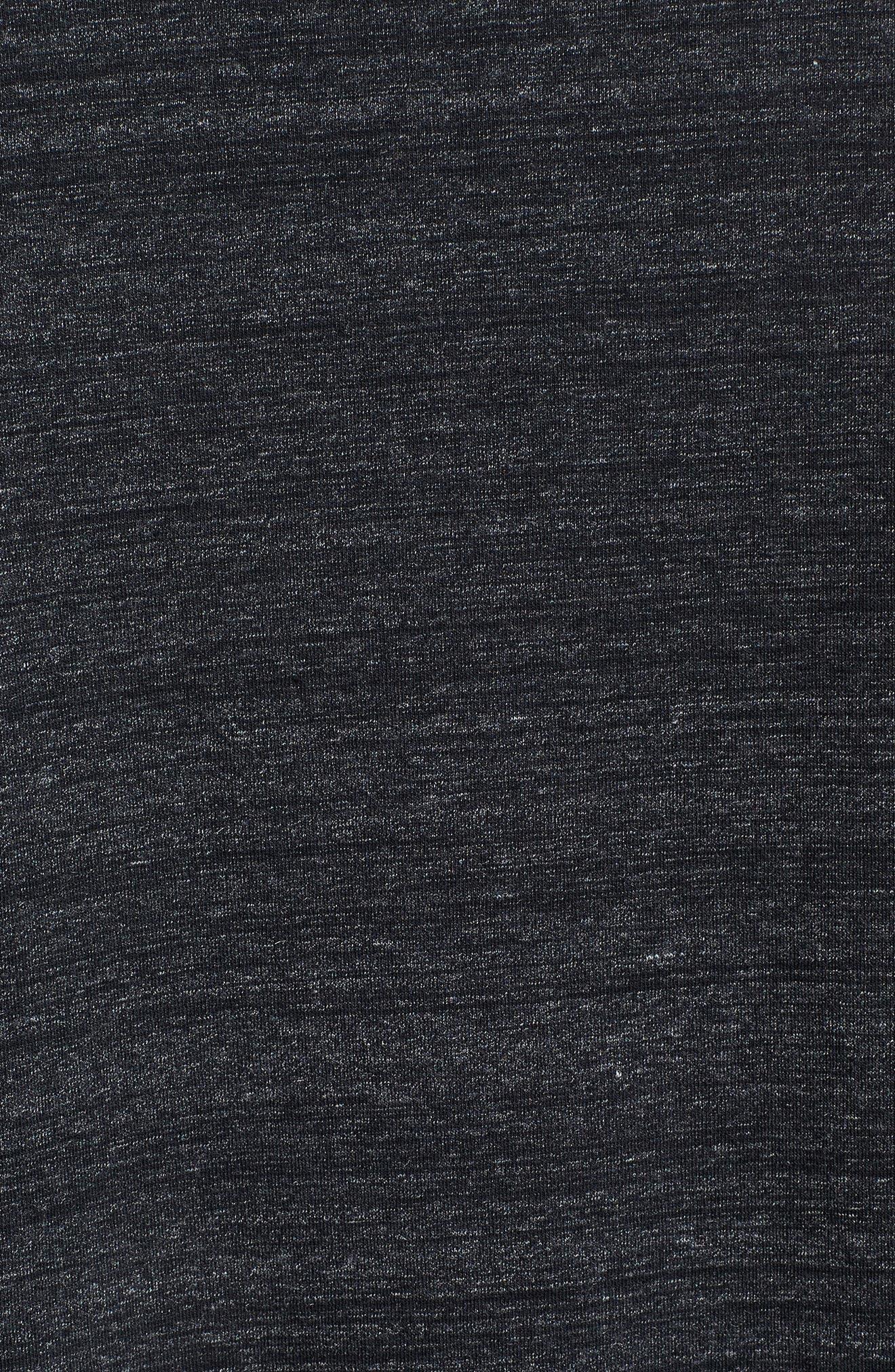 Sportstyle Long Sleeve Performance T-Shirt,                             Alternate thumbnail 5, color,                             BLACK/ STEEL